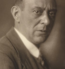 Arnold Schönberg (1874-1951) Composer and musician, immigrated 1933 (ÖNB/Pf 4064:C (2E))