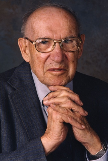 Peter Drucker 1909-2005 Management consultant and author known as the father of modern management immigrated 1937 (c) AP Photo