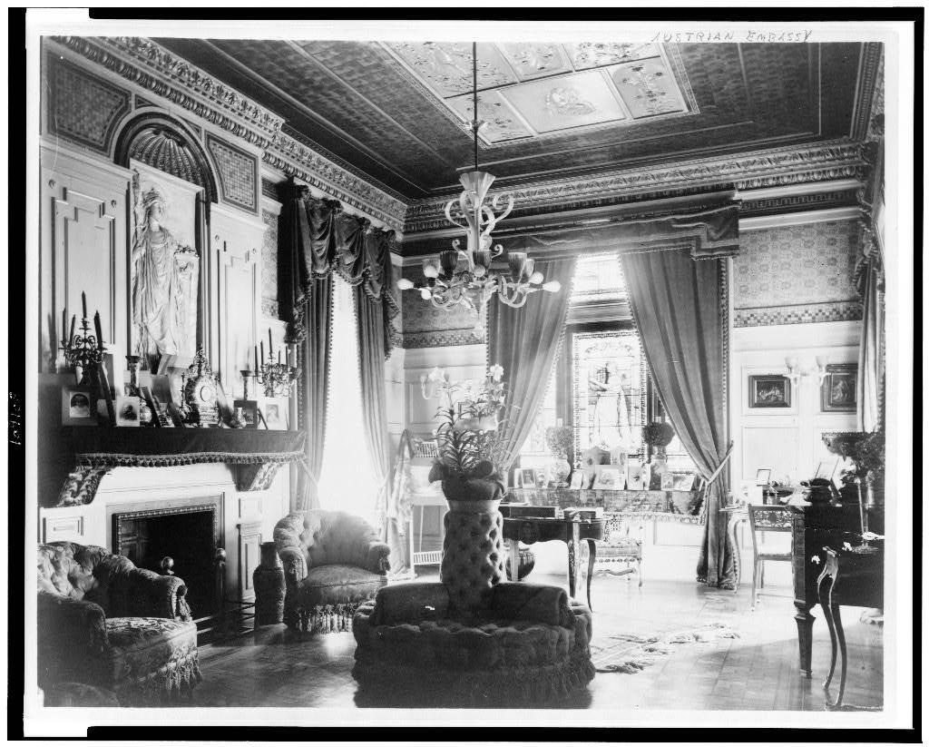 Salon at the Embassy of Austria-Hungary, 1893.