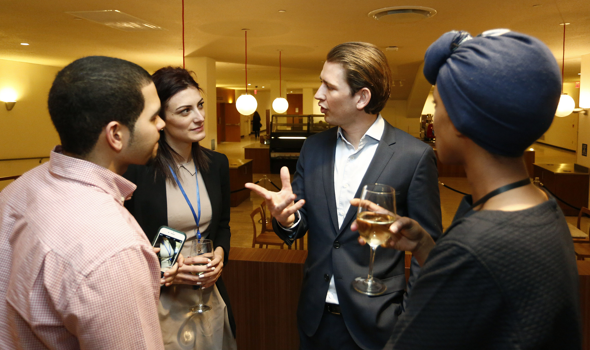 Austrian Foreign Minister Sebastian Kurz at the reopening of Cafe Vienna at the United Nations. Photo: Dragan Tatic.