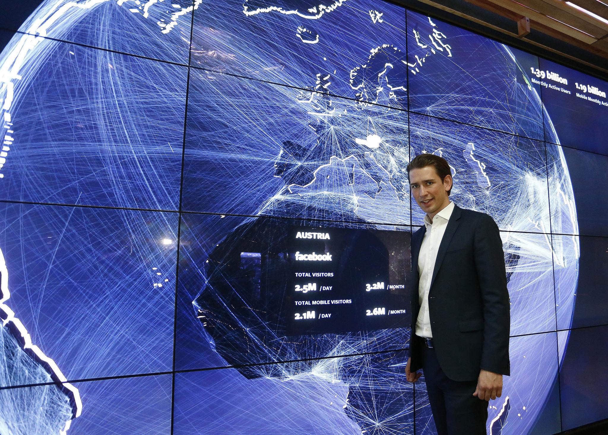 Foreign Minister Sebastian Kurz at Facebook headquarters. Photo: Dragan Tatic.