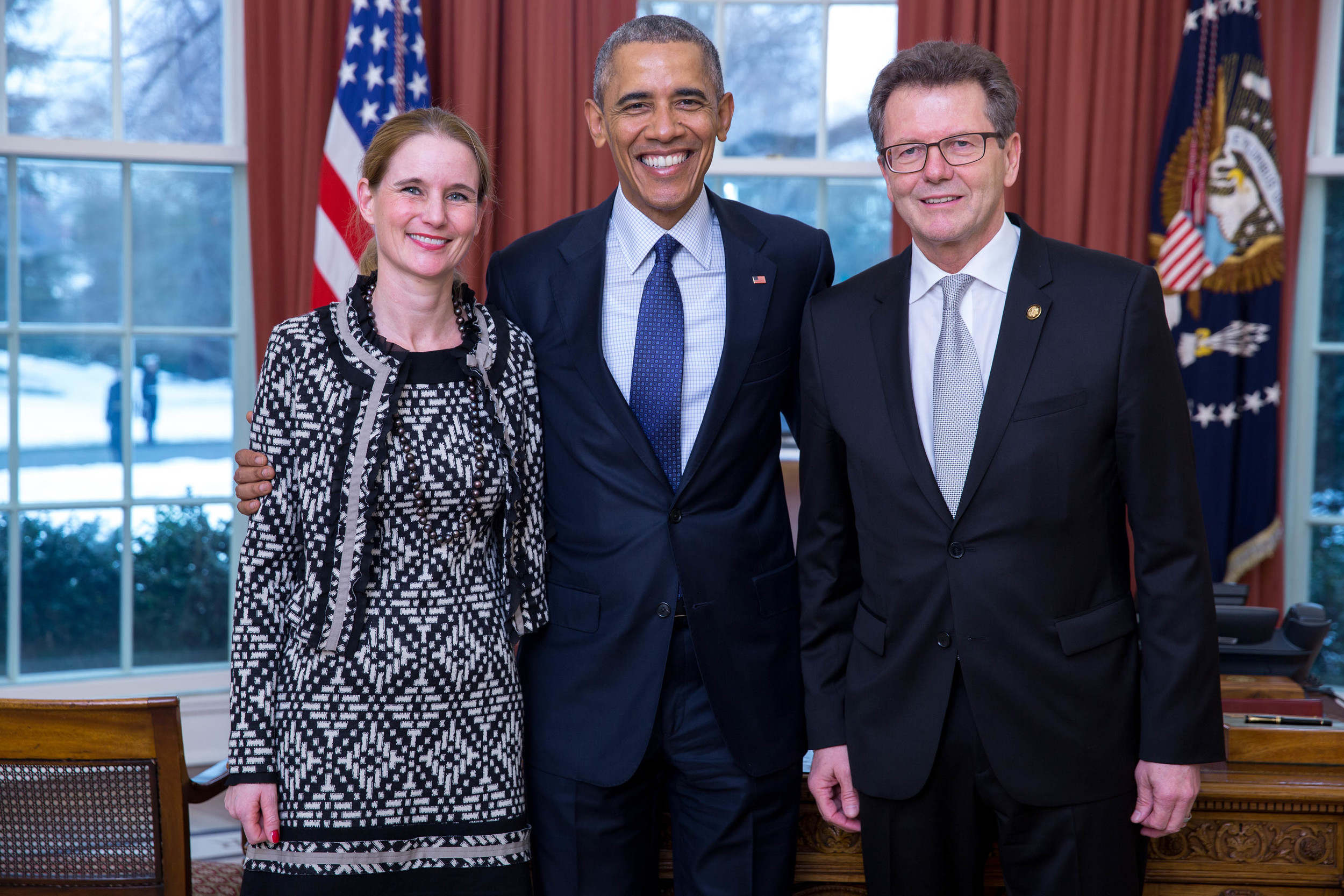 President Obama with Ambassador Waldner and his wife Gudrun.Photos: The White House