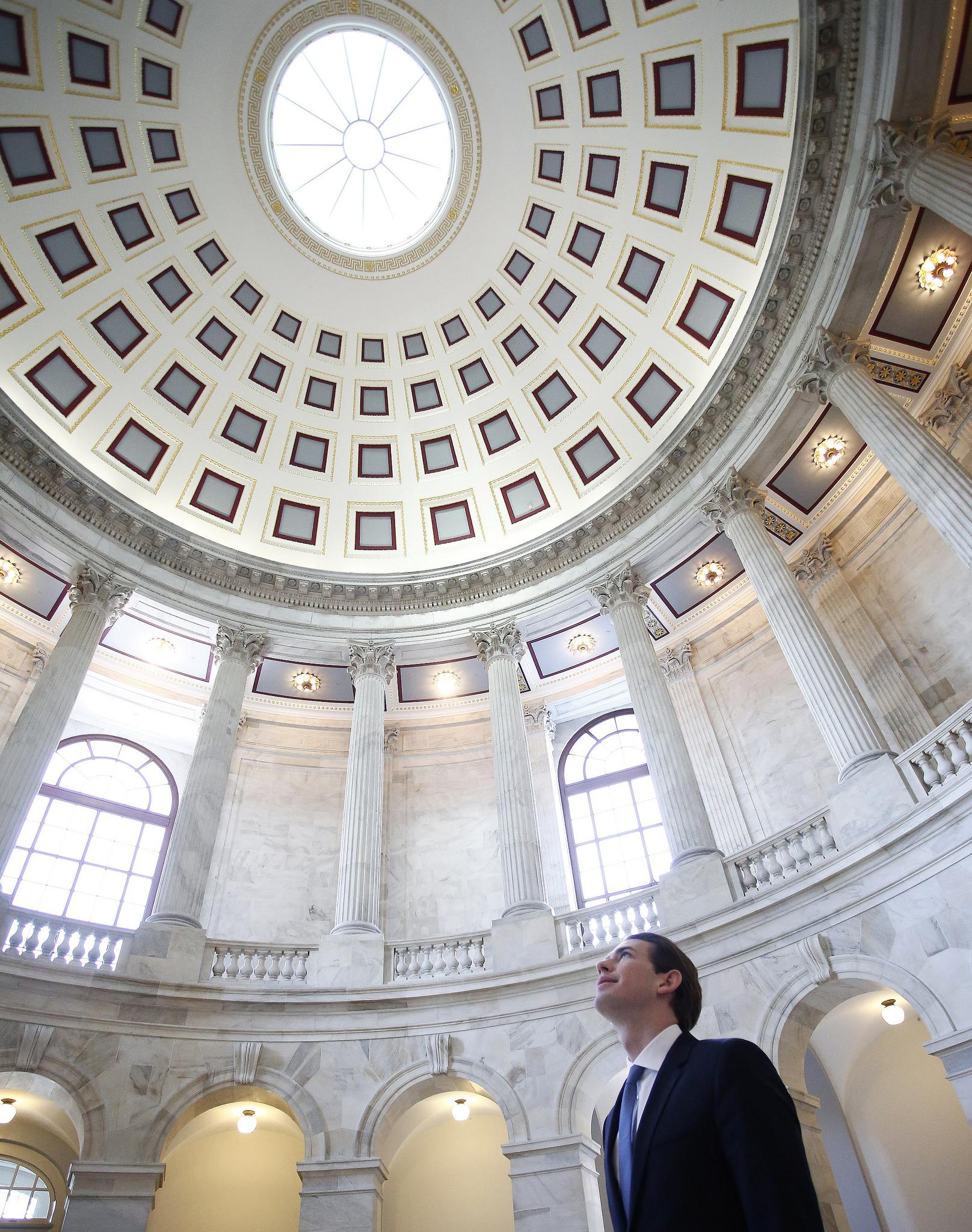 FM Kurz at the U.S. Capitol. Photo: Dragan Tatic