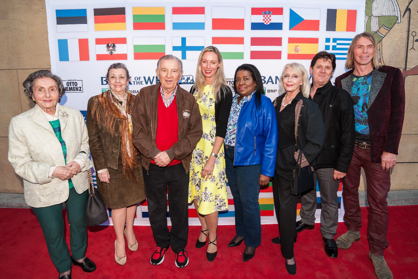 Consul General Ulrike Ritzinger (center) with attendees from the Austrian American Council and sponsor Otto Nemenz (third from left)