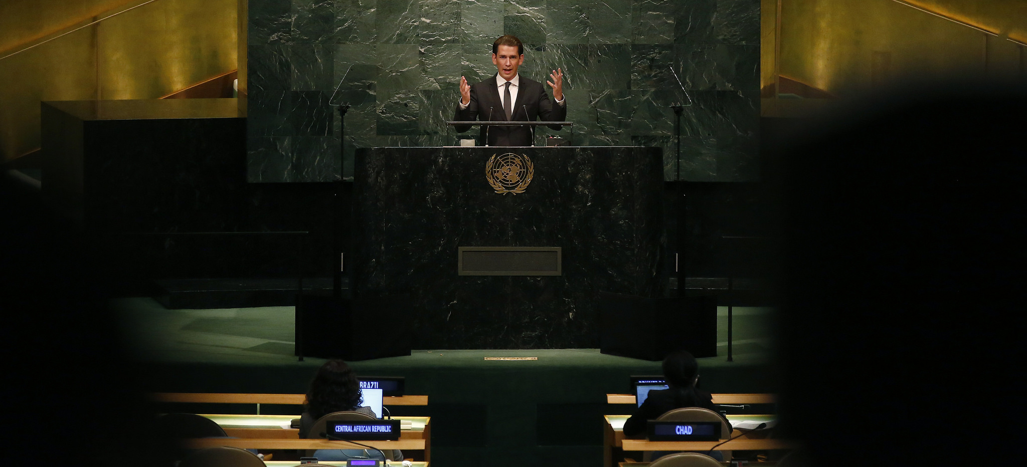 FM Kurz speaking at the UNGA. Photo: Dragen Tatic