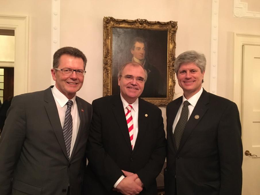From left: Ambassador Wolfgang Waldner, Austrian Minister of Justice   Wolfgang Brandstetter, Congressman Jeff Fortenberry Photo: Twitter/ @WaldnerWolfgang