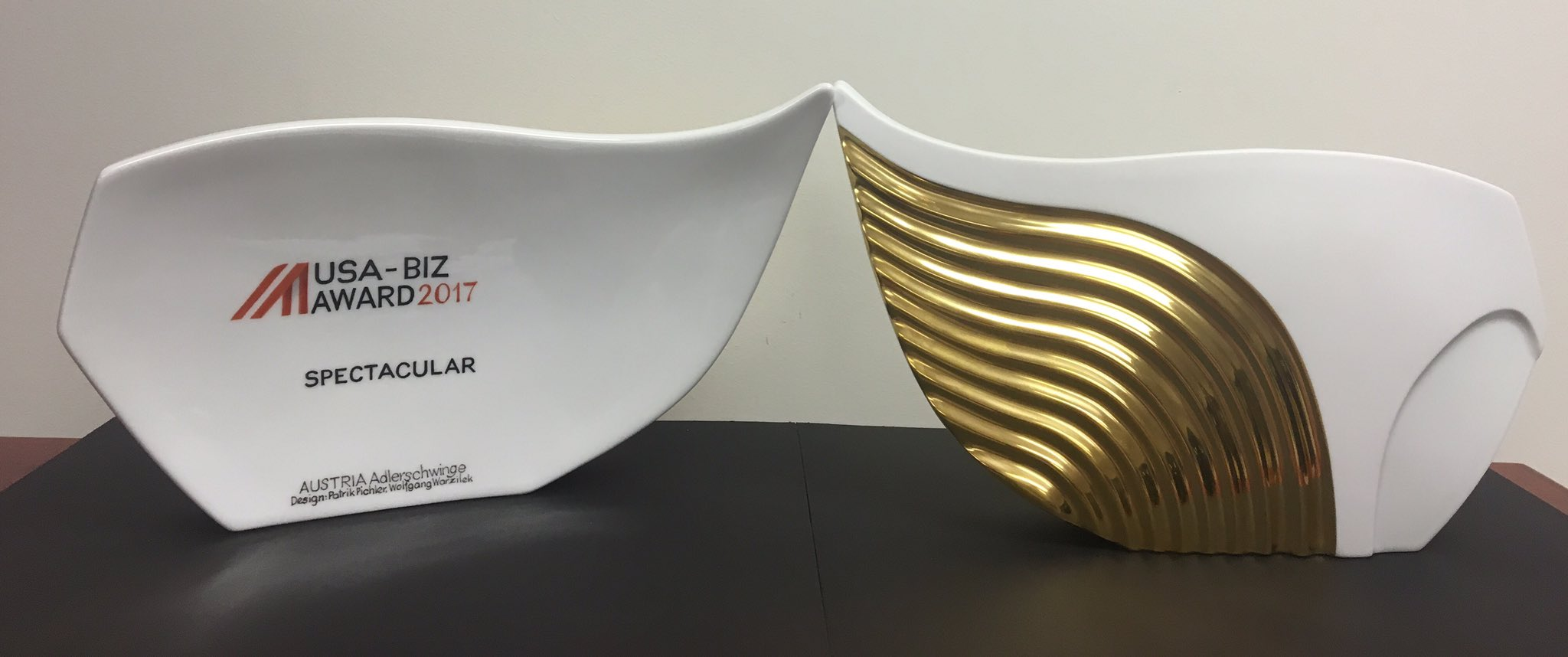 This year's trophies were handcrafted by the Vienna Porcelain Manufactury  Augarten .