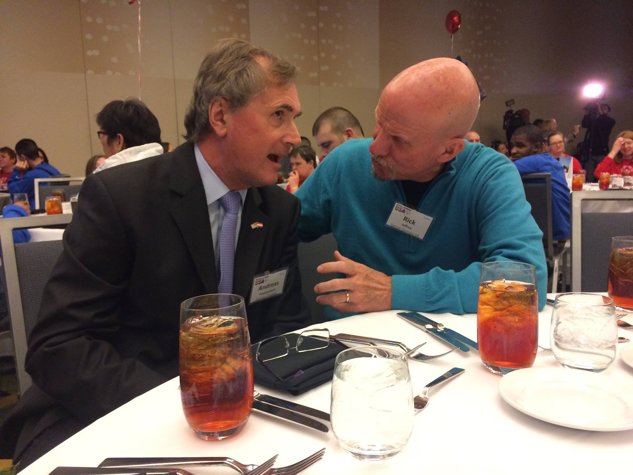 Andreas Pawlitschek, Director of the Austrian Cultural Forum Washington, and Rick Jeffrey, President of Special Olympics Virginia