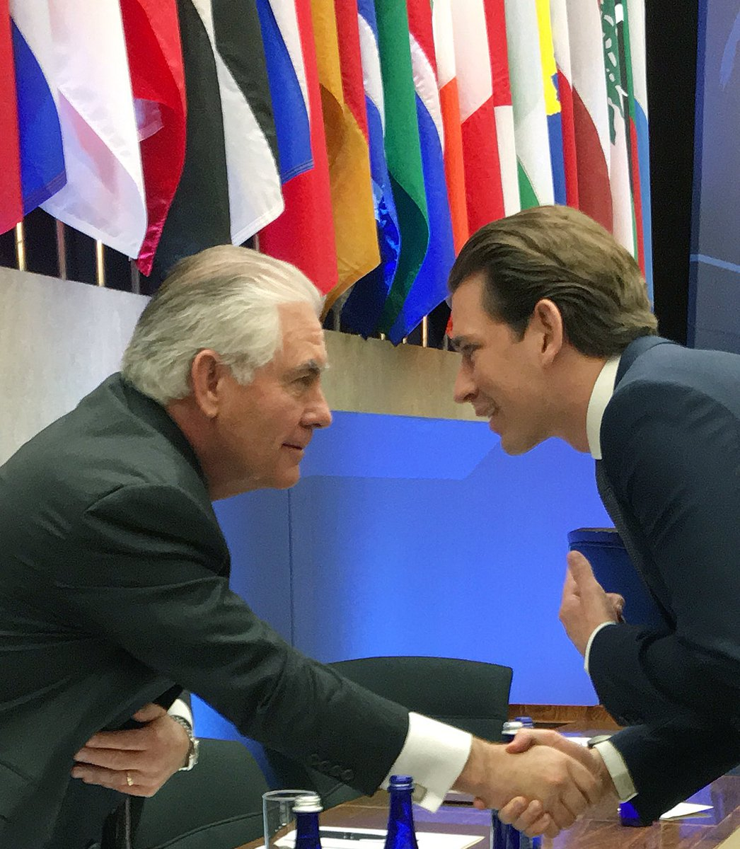 U.S. Secretary of State Rex Tillerson (left), Austrian Foreign Minister Sebastian Kurz. https://twitter.com/sebastiankurz