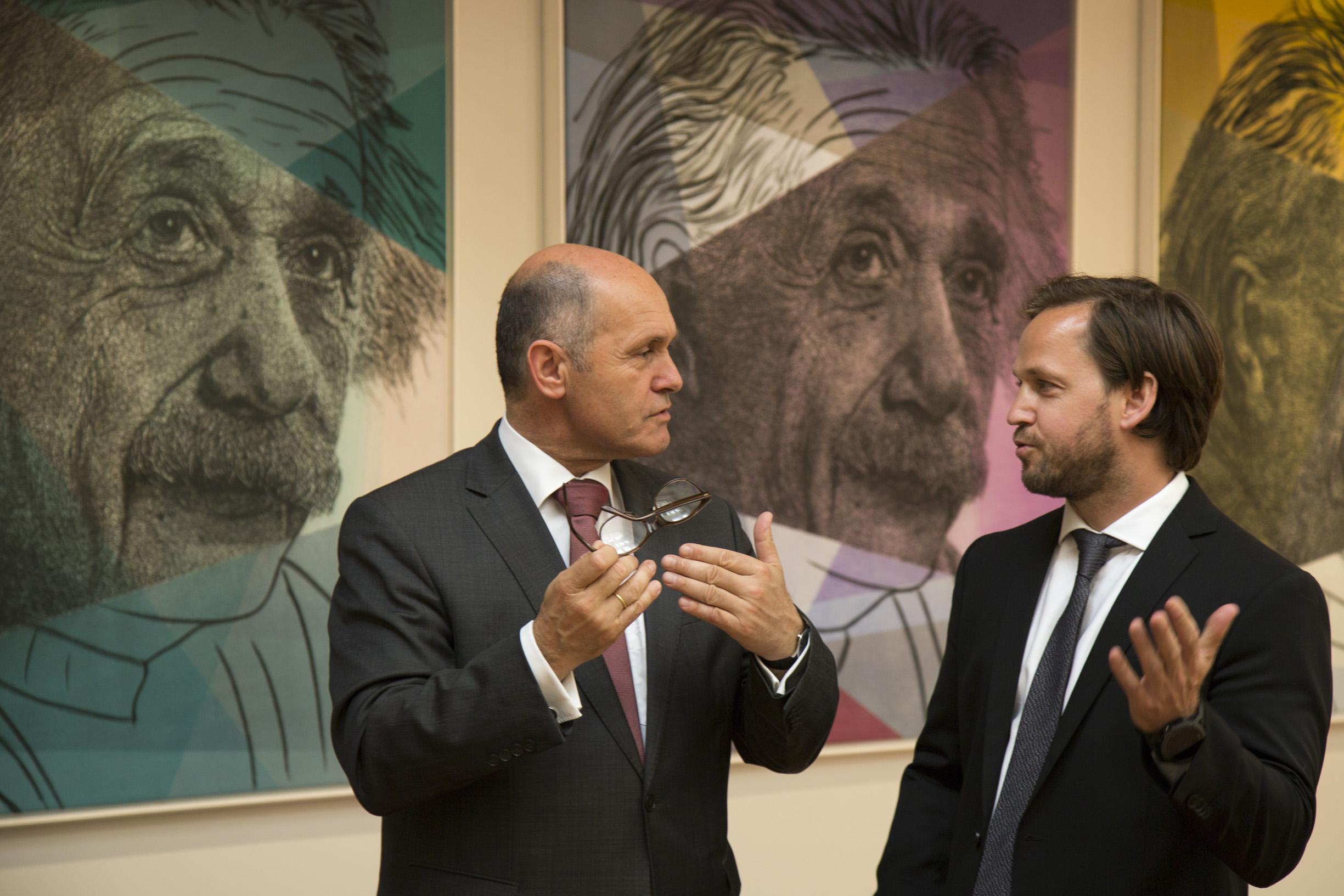From left: Federal Minister Wolfgang Sobotka, Christoph Palaschke.  Photo: BMI/ Jürgen Makowecz