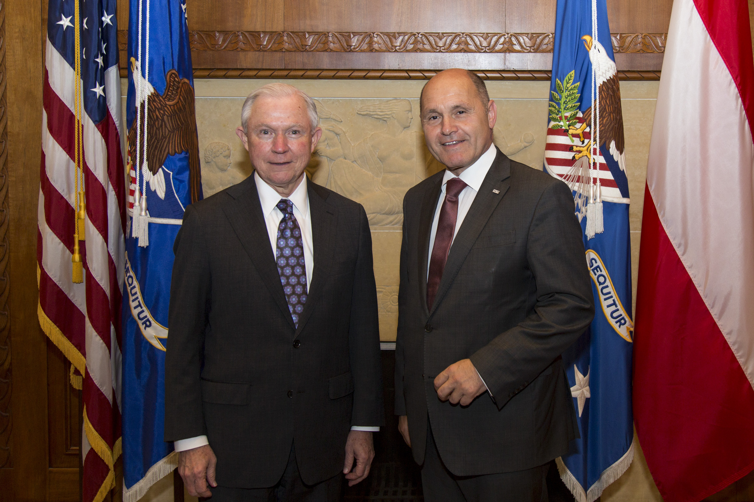 """(From left): U.S. Attorney General Jeff Sessions, Federal Minister Wolfgang Sobotka.  Photo: BMI/          96              Normal   0           false   false   false     EN-US   X-NONE   X-NONE                                                                                                                                                                                                                                                                                                                                                                                                                                                                                                                                                                                                                                                                                                                                                                                                                                                                                     /* Style Definitions */ table.MsoNormalTable {mso-style-name:""""Table Normal""""; mso-tstyle-rowband-size:0; mso-tstyle-colband-size:0; mso-style-noshow:yes; mso-style-priority:99; mso-style-parent:""""""""; mso-padding-alt:0in 5.4pt 0in 5.4pt; mso-para-margin:0in; mso-para-margin-bottom:.0001pt; mso-pagination:widow-orphan; font-size:12.0pt; font-family:Calibri; mso-ascii-font-family:Calibri; mso-ascii-theme-font:minor-latin; mso-hansi-font-family:Calibri; mso-hansi-theme-font:minor-latin;}     Jürgen Makowecz"""