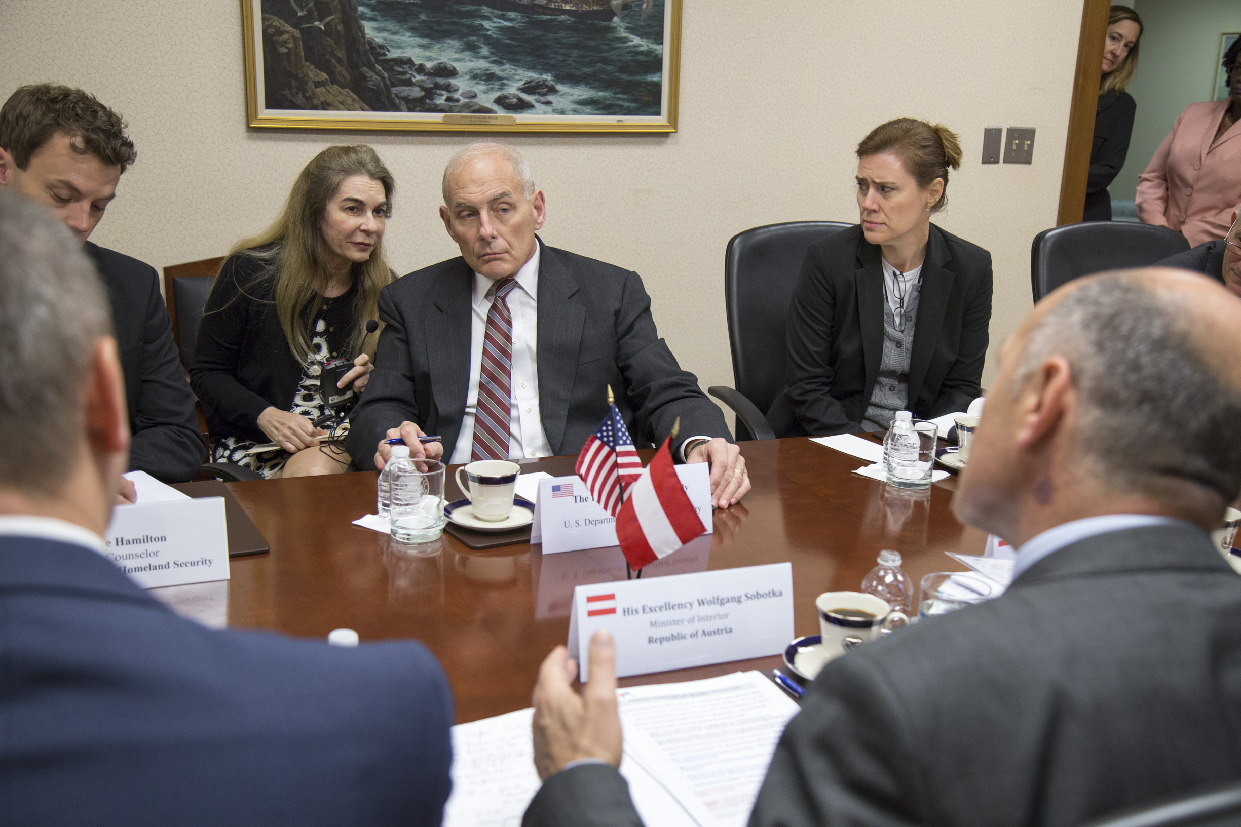 "Federal Minister Sobotka and delegation meet U.S. Secretary John Kelly.         96              Normal   0           false   false   false     EN-US   X-NONE   X-NONE                                                                                                                                                                                                                                                                                                                                                                                                                                                                                                                                                                                                                                                                                                                                                                                                                                                                                     /* Style Definitions */ table.MsoNormalTable {mso-style-name:""Table Normal""; mso-tstyle-rowband-size:0; mso-tstyle-colband-size:0; mso-style-noshow:yes; mso-style-priority:99; mso-style-parent:""""; mso-padding-alt:0in 5.4pt 0in 5.4pt; mso-para-margin:0in; mso-para-margin-bottom:.0001pt; mso-pagination:widow-orphan; font-size:12.0pt; font-family:Calibri; mso-ascii-font-family:Calibri; mso-ascii-theme-font:minor-latin; mso-hansi-font-family:Calibri; mso-hansi-theme-font:minor-latin;}      Photo: BMI/ Jürgen Makowecz"