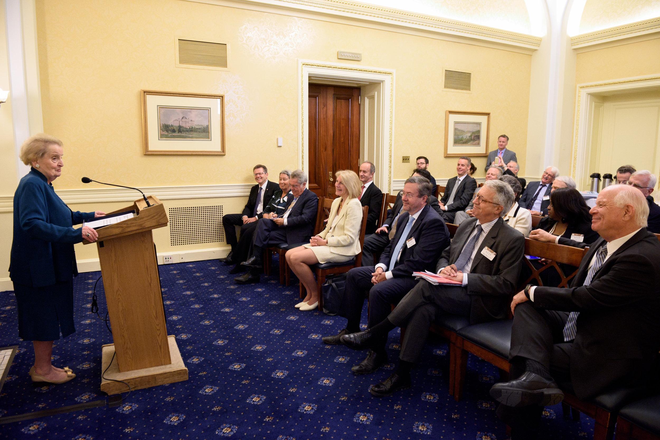 Dr. Madeleine Albright addresses the audience (c)Kaveh Sardari Photography