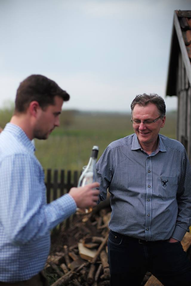 Sommelier Klaus Wittauer, right, with winemaker Paul Direder from Wagram, Lower Austria