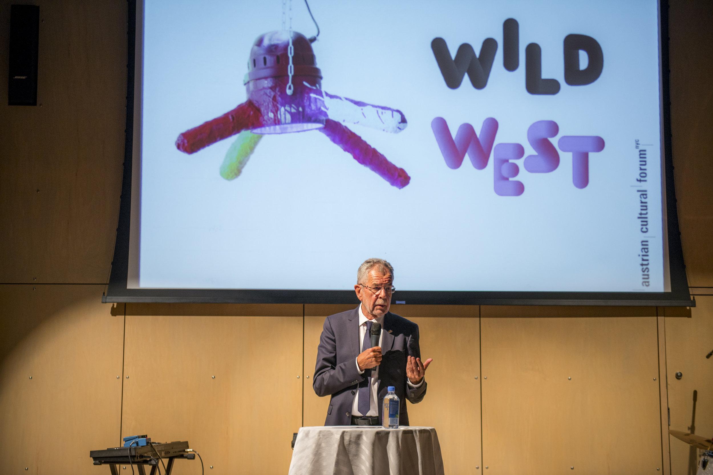 Remarks by President Alexander Van der Bellen at the WILD WEST  Opening Reception, September 19, 2017, at the Austrian Cultural Forum New York, Photo: David Plakke/ACFNY