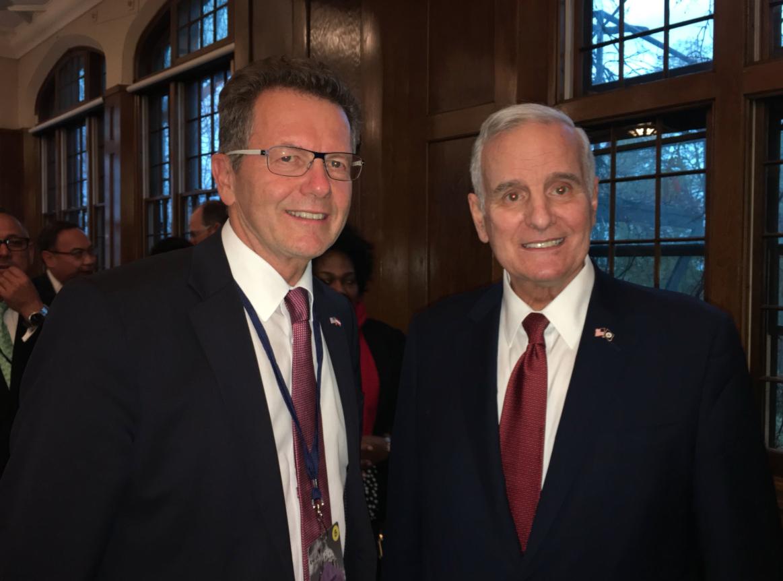 Ambassador Wolfgang Waldner with Mark Dayton, Governor of Minnesota