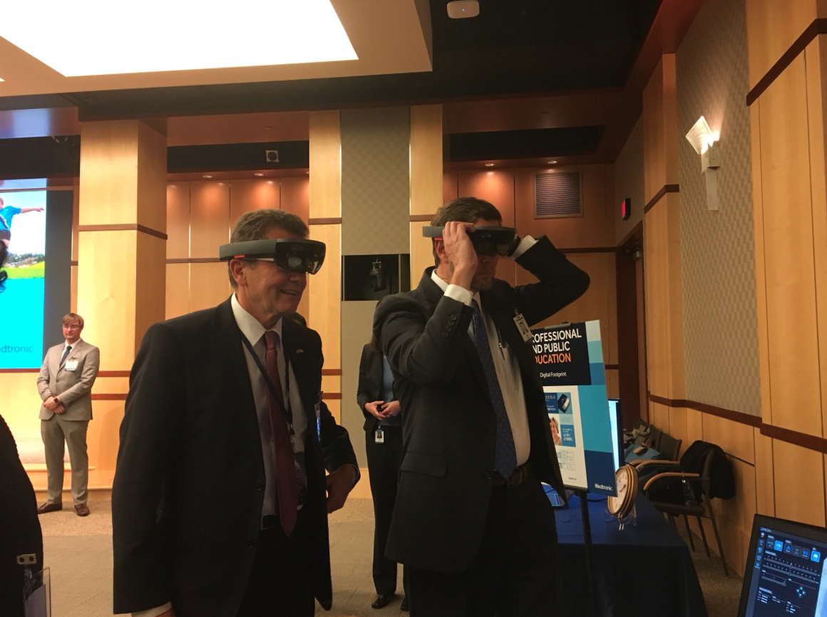 Ambassador Waldner at the medical technology company Medtronic in Minneapolis, MN