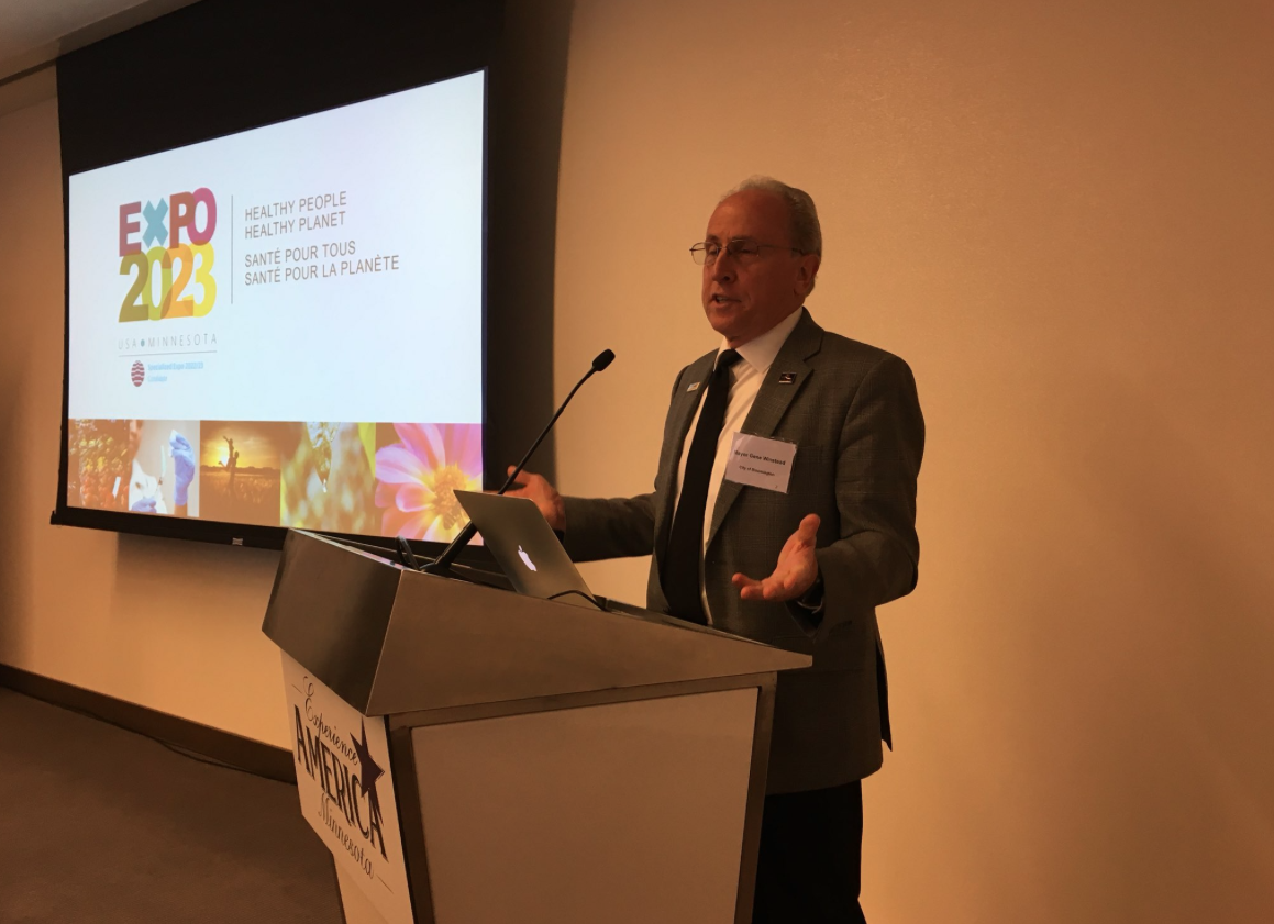 Bloomington-Mayor Gene Winstead talks about Minnesota's candidature for hosting the Expo 2023
