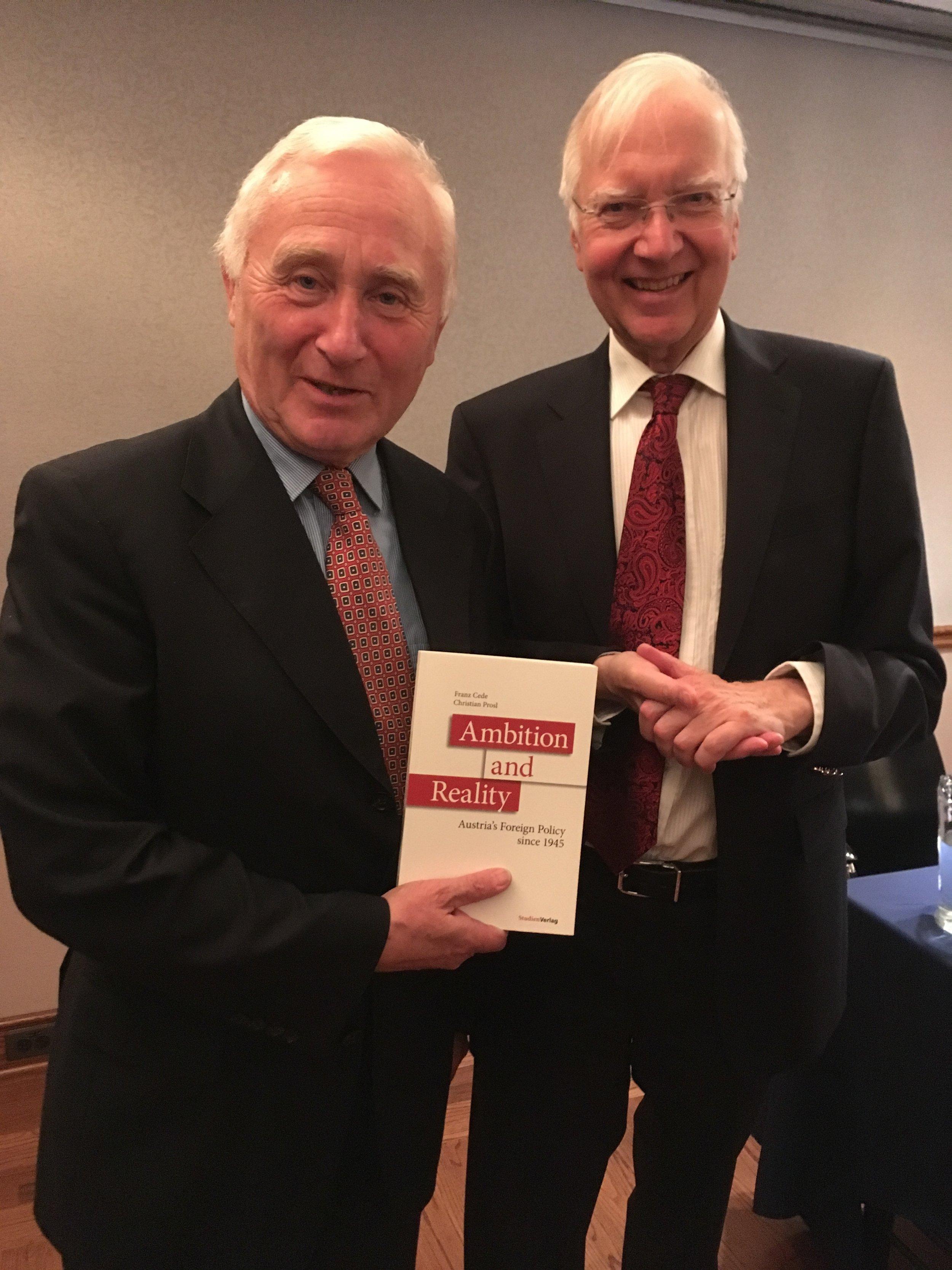 Ambassador Christian Prosl (left) and Ambassador Franz Cede