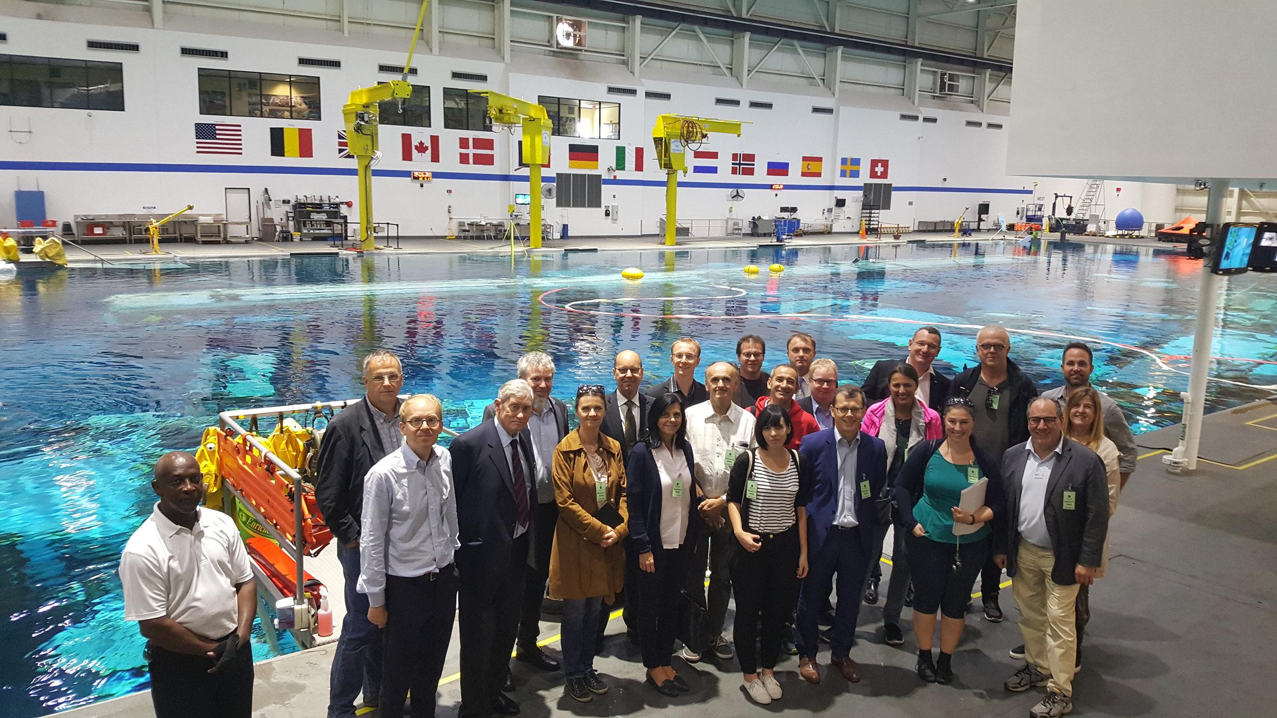 The Austrian delegation visiting NASA Johnson Space Center