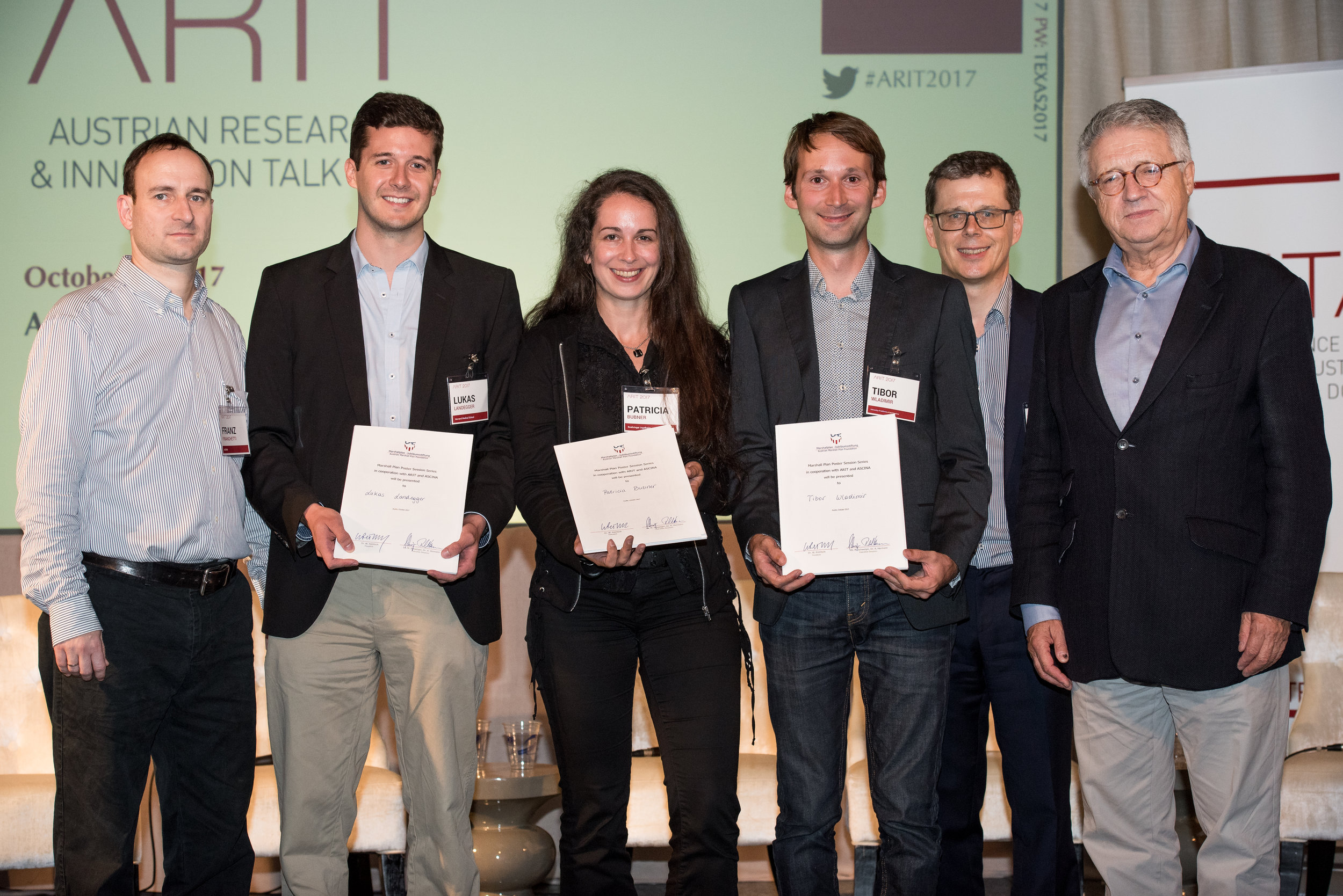 The winners of the Austrian Marshall Plan Foundation Poster Award