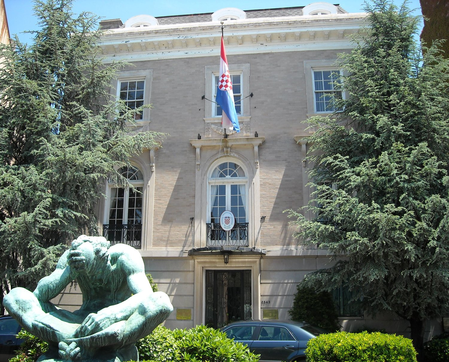 The former location of the Austrian Embassy on 2343 Massachusetts Avenue, NW. Today the building houses the Embassy of Croatia to the United States. Wikimedia/AgnosticPreachersKid