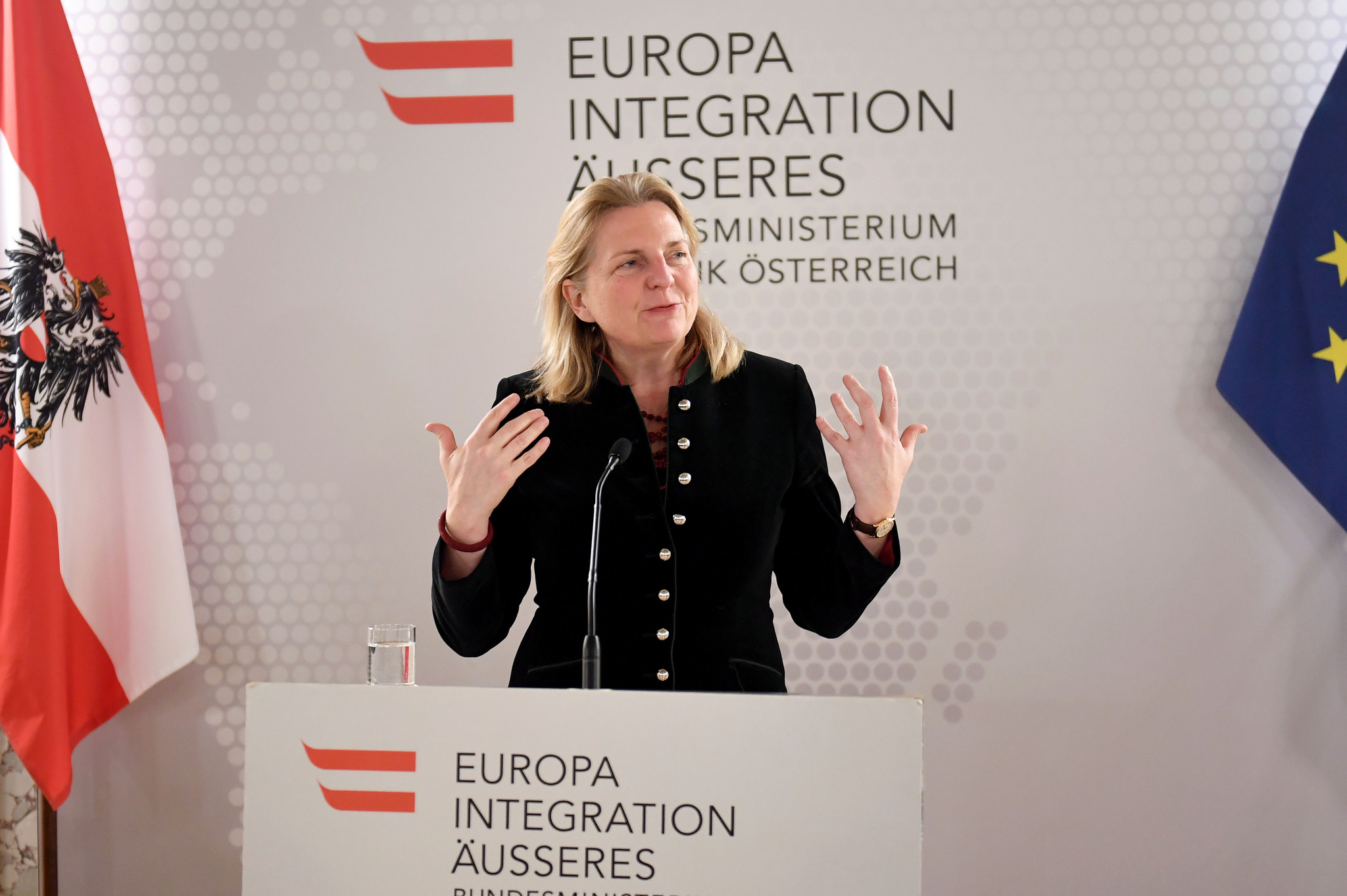 Foreign Minister Karin Kneissl (c) Austrian Foreign Ministry, Photo: Mahmoud