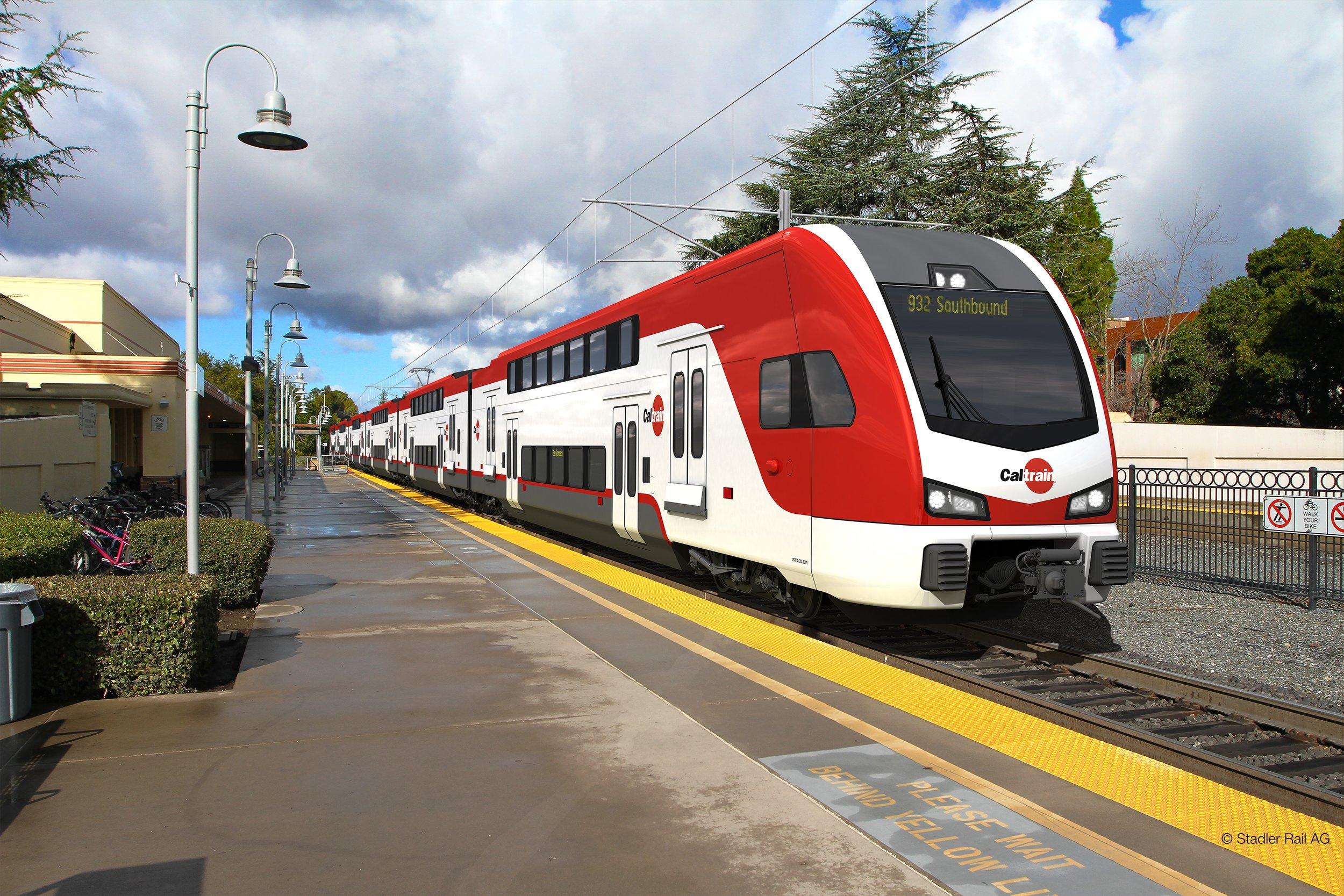 Photo: Caltrain - Rendering Stadler Rail AG Credit: Stadler Rail AG