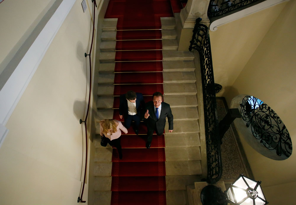 With Federal Chancellor Sebastian Kurz Credit:Dragan Tatic/ BKA