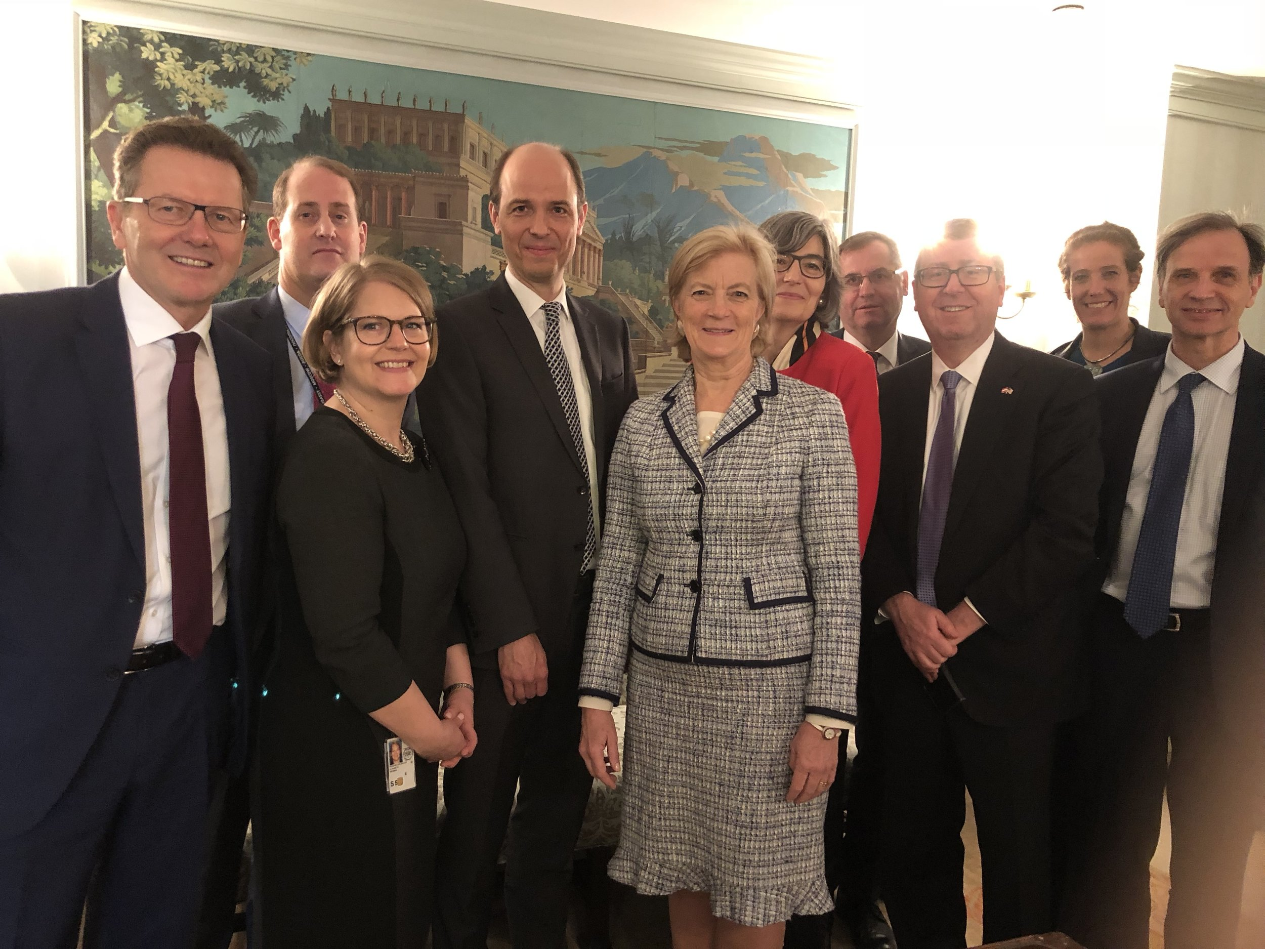 Austrian - U.S. political delegations at the U.S. Department of State.