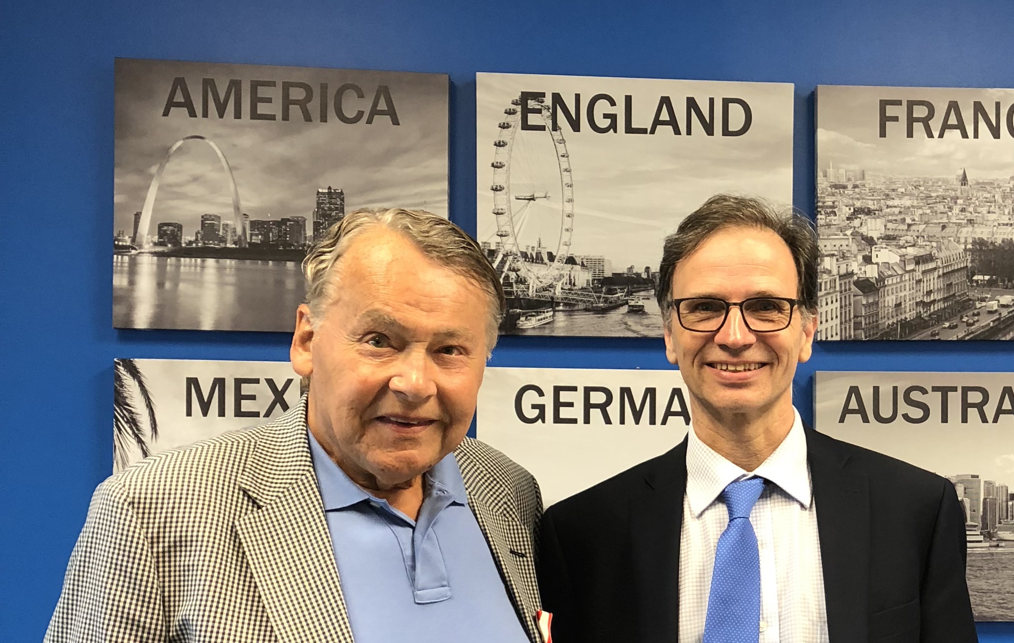 from left: Dieter Ungerboeck with Christian Brunmayr