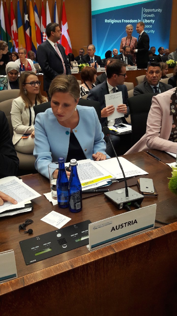 Susanne Raab, Undersecretary for Integration at the Austrian Foreign Ministry, headed the Austrian delegation at the Ministerial to Advance Religious Freedom.