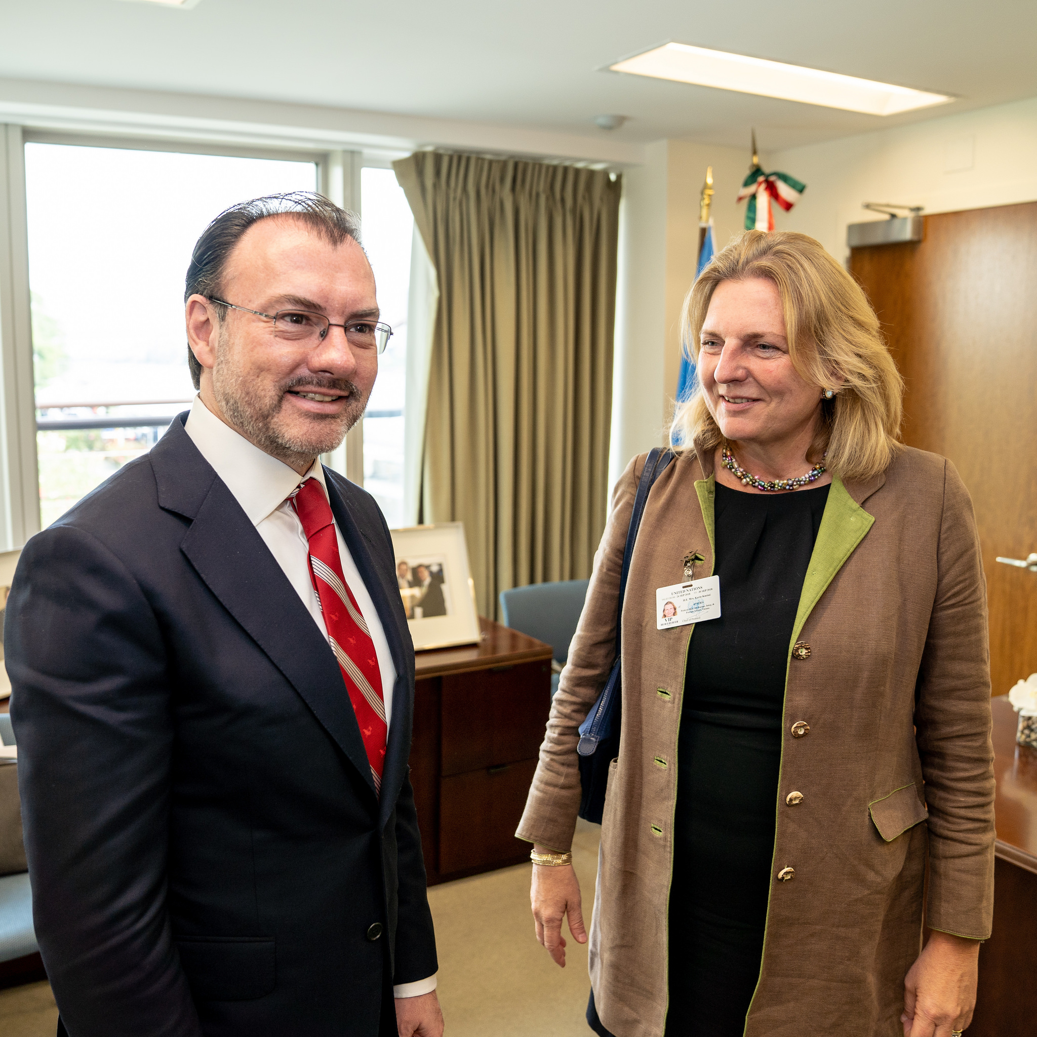 Foreign Minister Karin Kneissl meets with Foreign Minister of Mexico, Luis Videgaray Caso (c) Austrian Ministry of Foreign Affairs