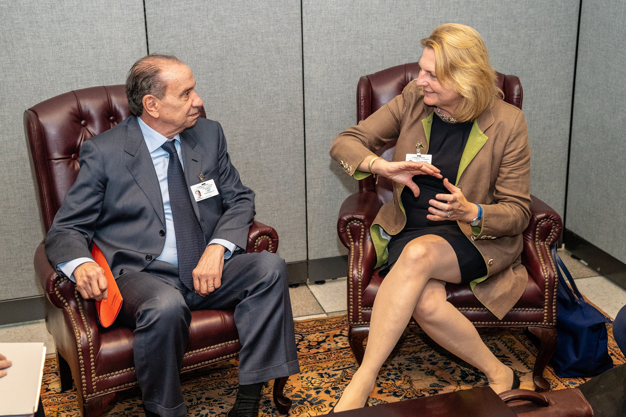 Foreign Minister Karin Kneissl holding a bilateral talk with Foreign Minister of Brazil, Aloysio Nunes Ferreira (c) Austrian Ministry of Foreign Affairs