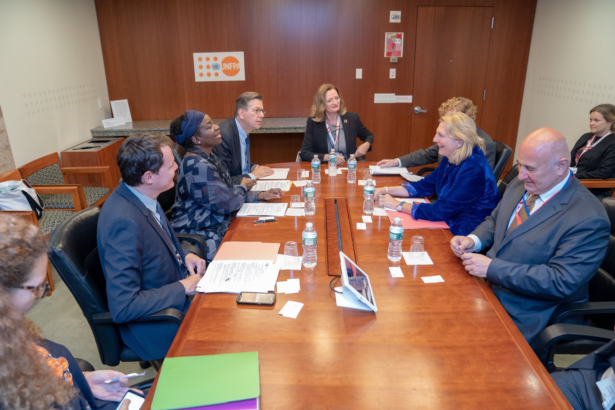 Foreign Minister Karin Kneissl in a joint meeting with Natalia Kanem, Executive Director of the United Nations Population Fund (c) Austrian Ministry of Foreign Affairs