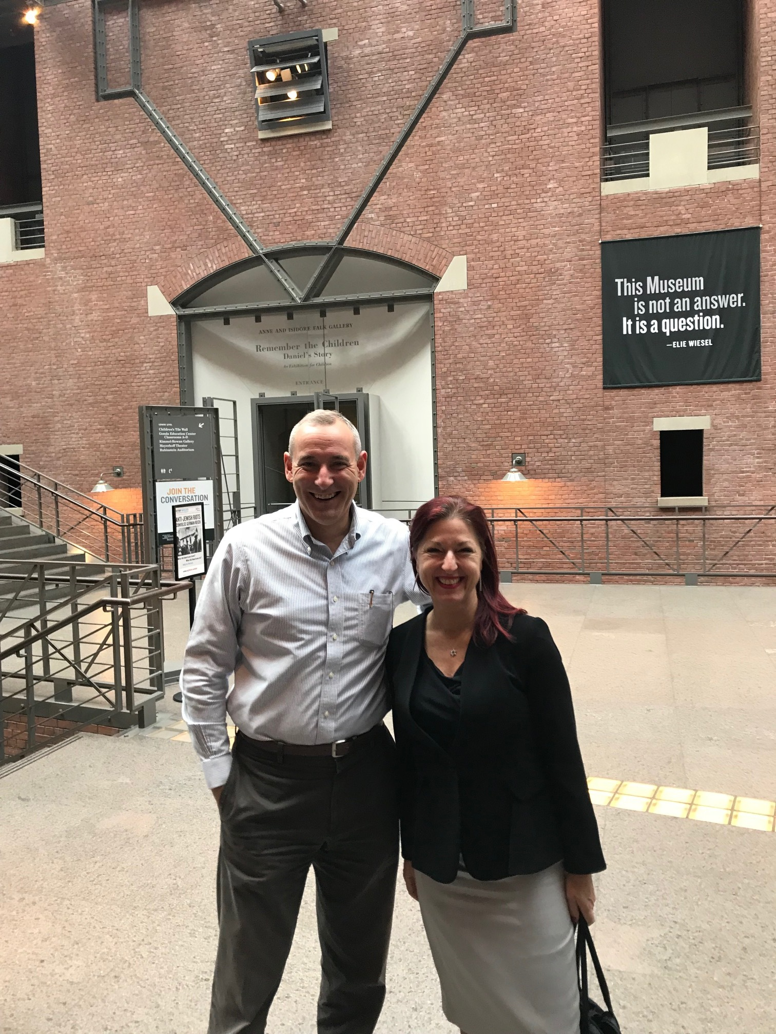 With Anatol Steck, Project Director, International Archival Programs, USHMM