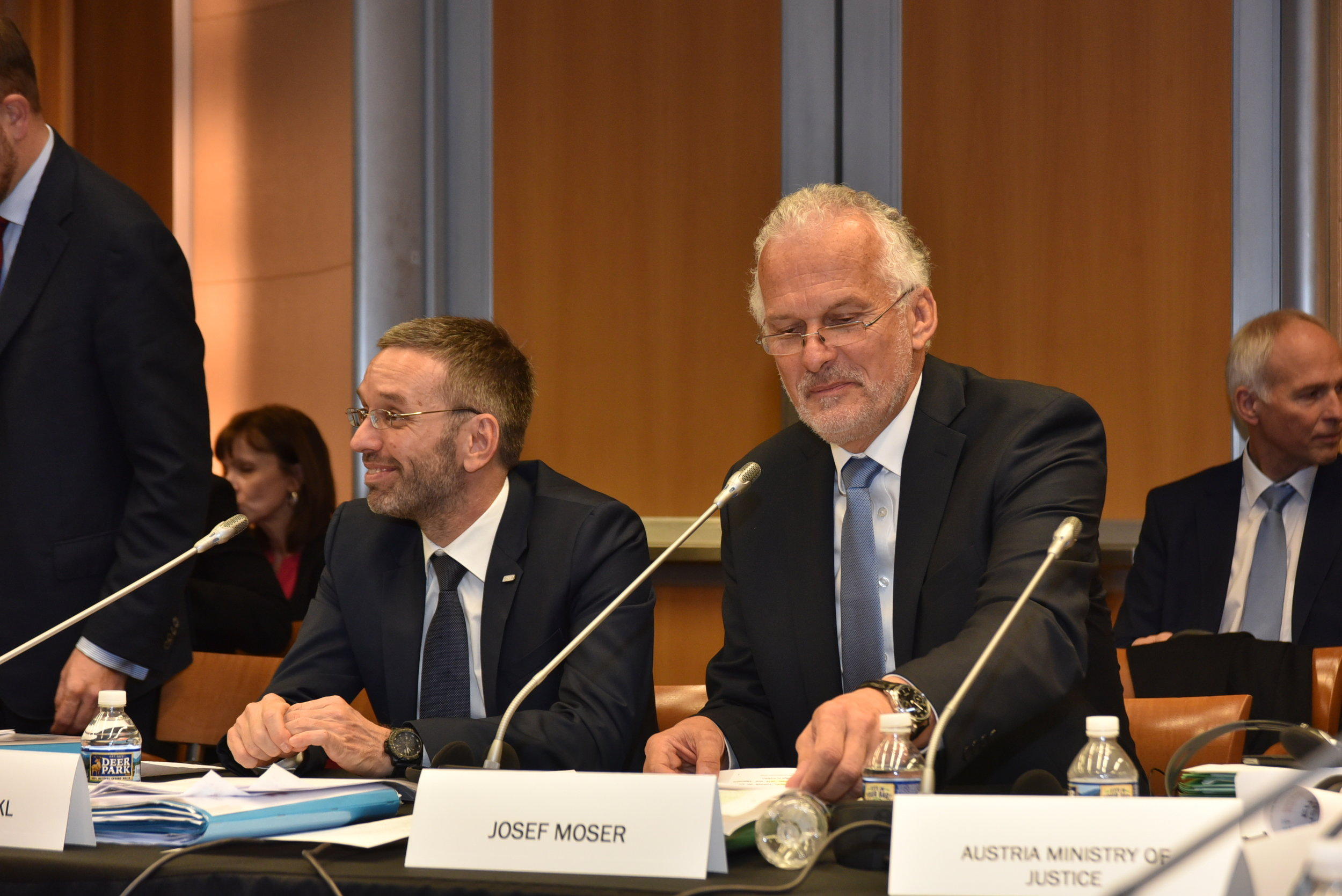 Austria was represented by Justice Minister Josef Moser and Interior Minister Herbert Kickl (c) Peter Alunans