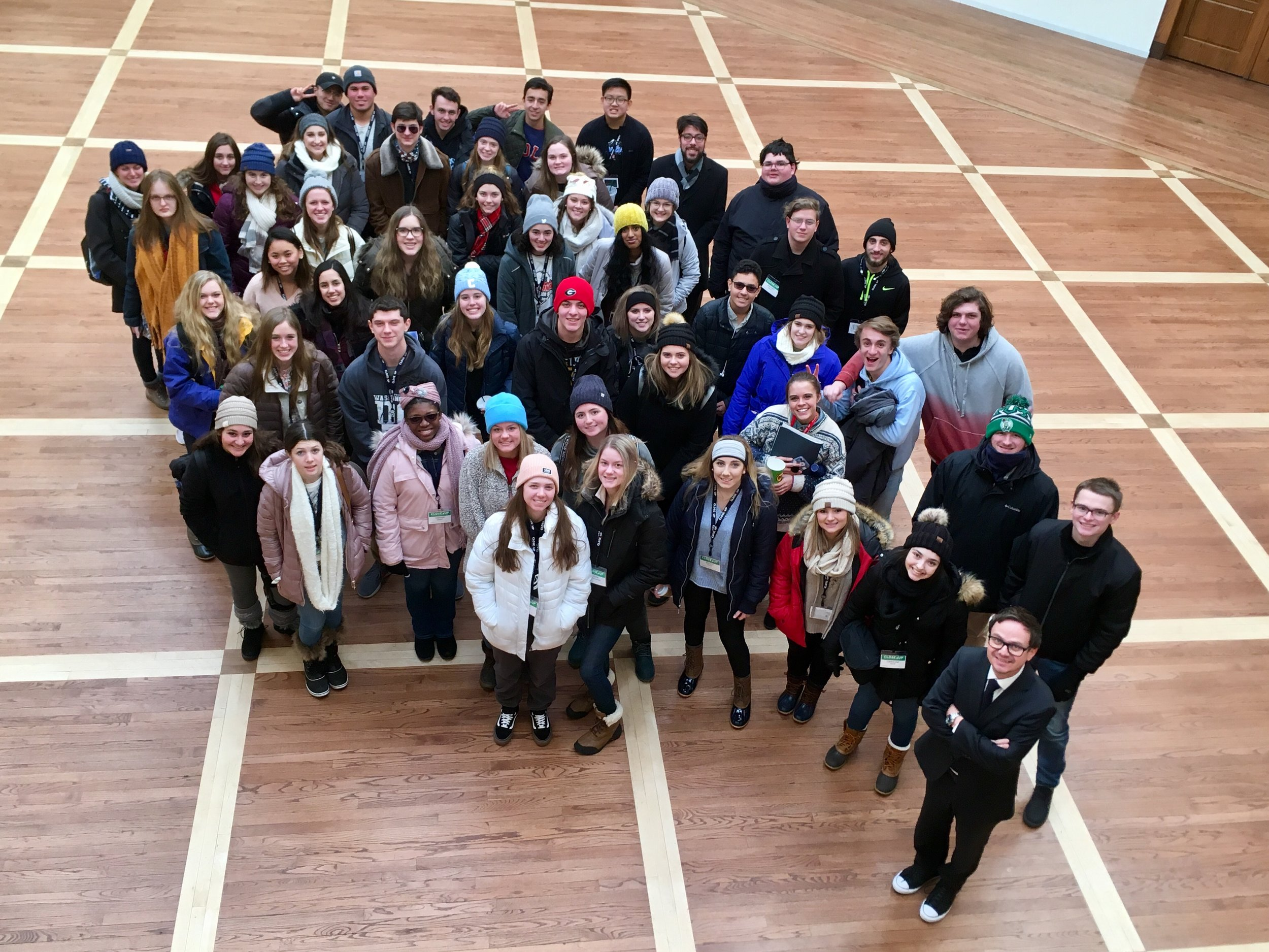 High School students from across the United States in the atrium of the Austrian Embassy.   Photo: Julia Aßl