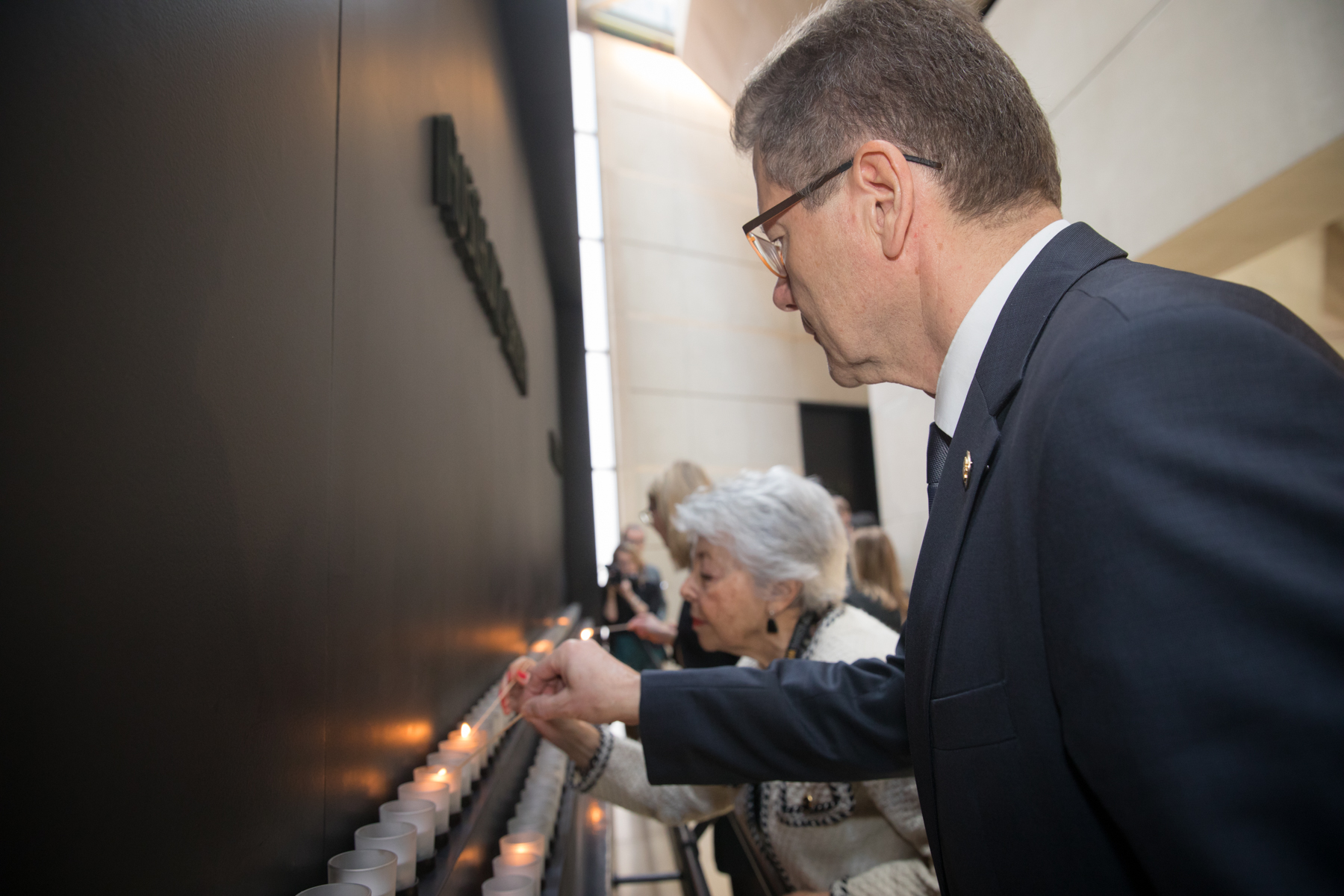 Ambassador Wolfgang Waldner, Mrs. Spreiregen   Photo: United States Holocaust Memorial Museum