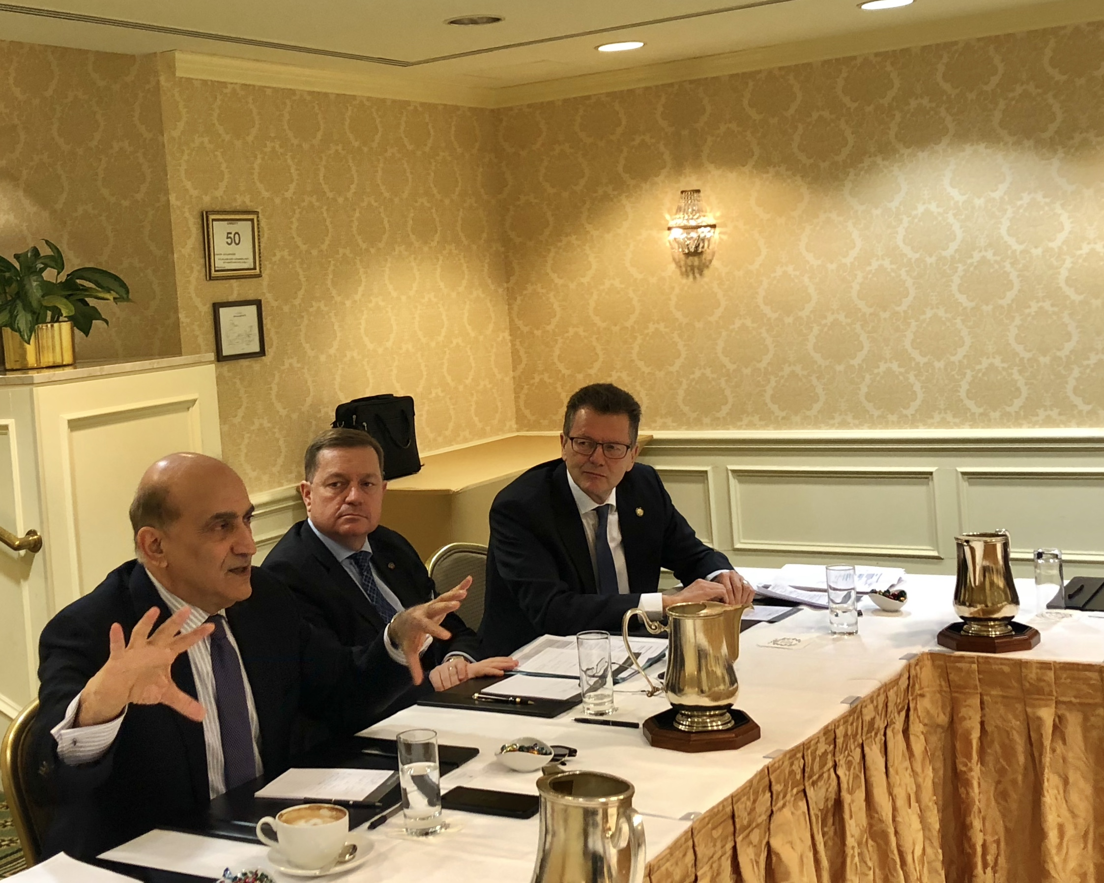 First from left: Dr. Walid Phares, Co-Chair of the Transatlantic Parliamentary Group