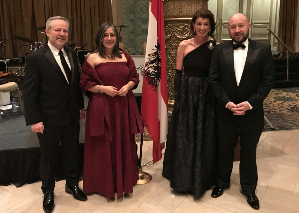 from left: Peter Sedlmayer (Austrian Trade Commissioner), Maria Vassilakou (Vice Mayor of the City of Vienna), Susanne Fischer-Sedlmayer, Bernd Matouschek