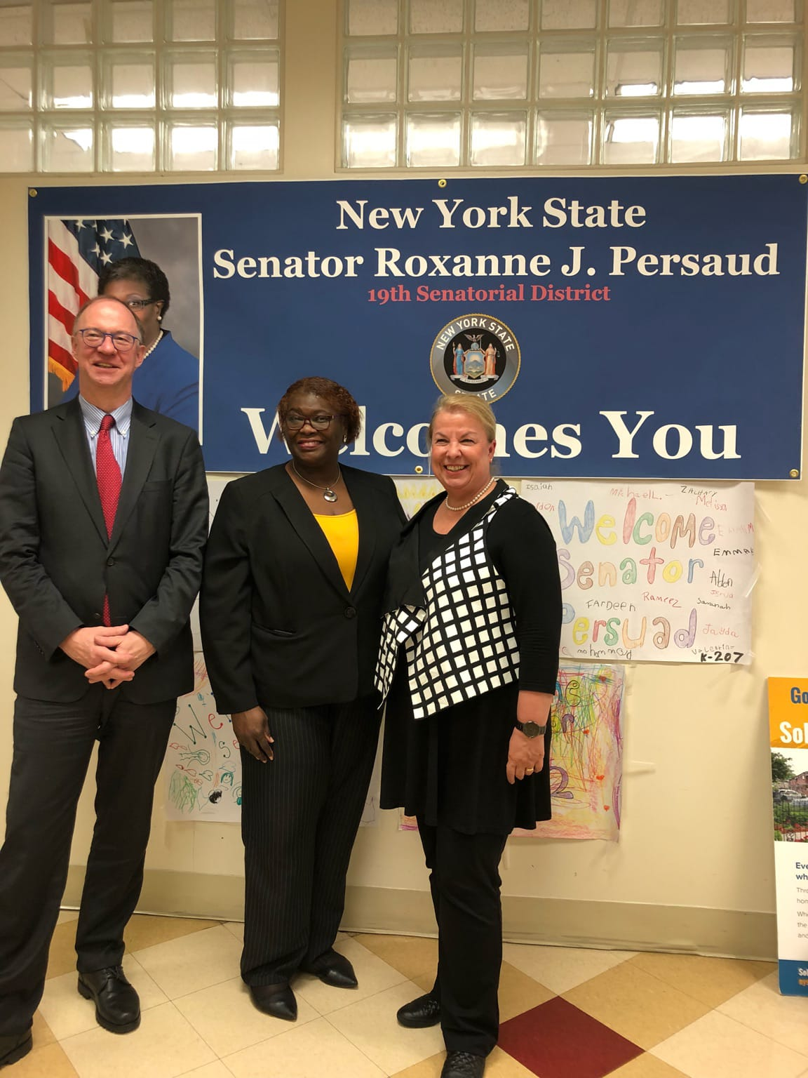 from left: Austrian Consul General Helmut Boeck, U.S. Senator Roxanne J. Persaud (NY State) and Minister Beate Hartinger-Klein