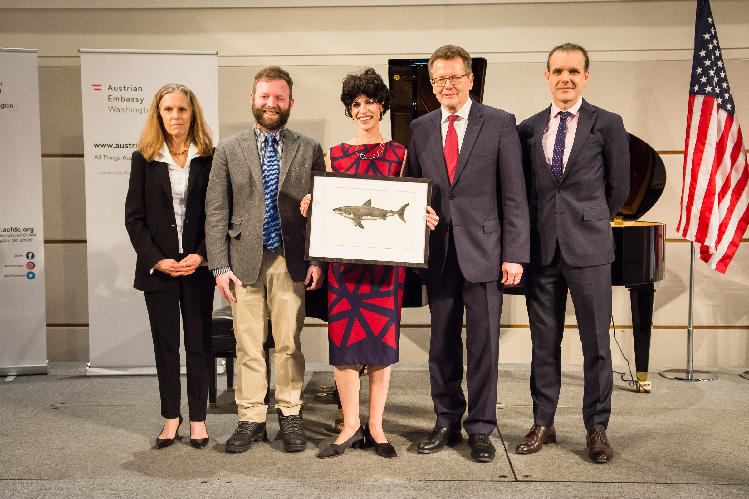 From left: Susan Vitka (DCEFF Board Chair), Chris Head (DCEFF Executive Director), Juliet Eilperin (Washington Post), Ambassador Wolfgang Waldner and Dr. Enric Sala (National Geographic)