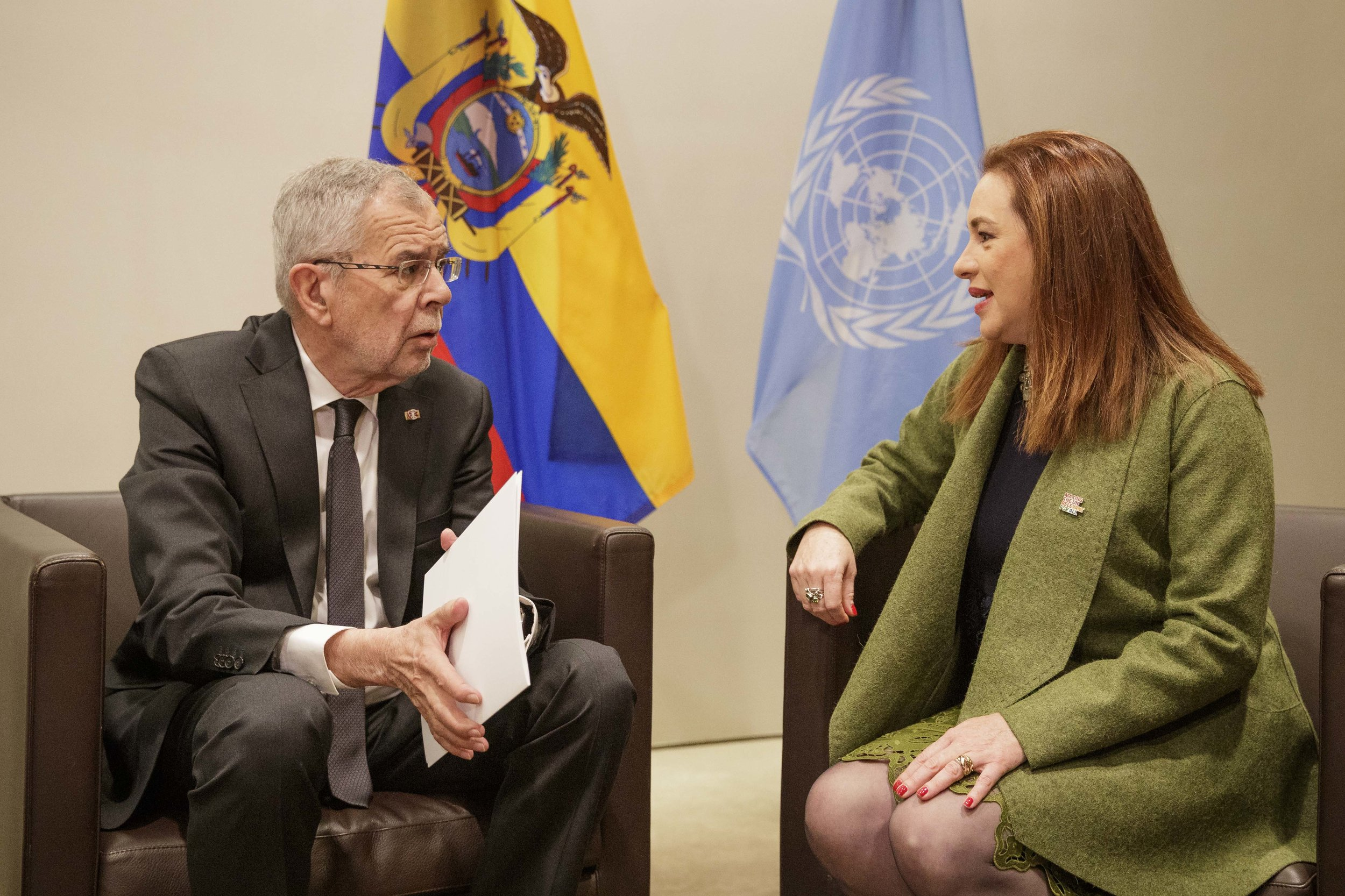 With María Fernanda Espinosa Garcés, President of the 73rd session of the United Nations General Assembly