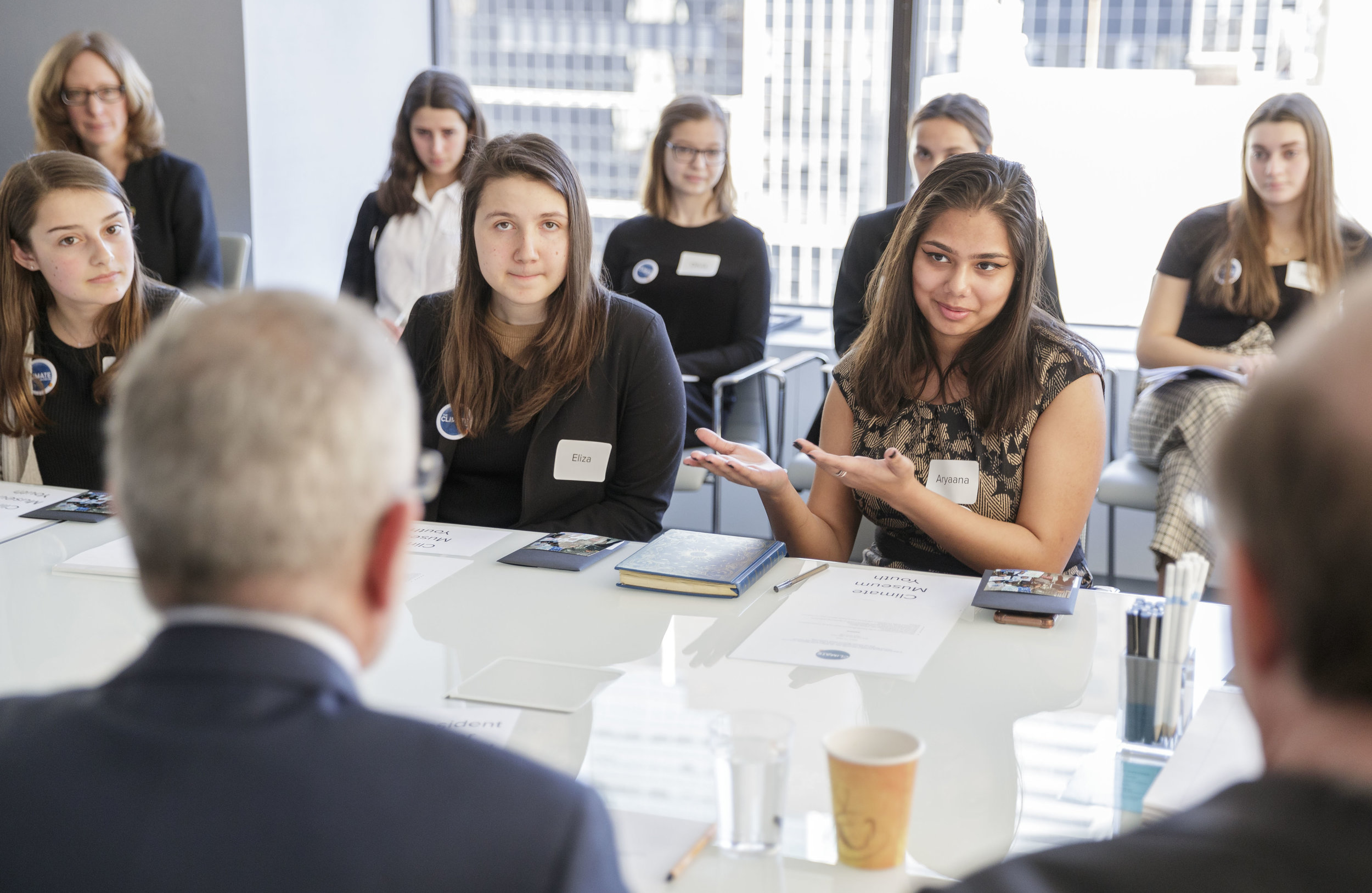 """We have to break the climate silence,"" was one of the key sentences in the discussion with youth advisory council members of New York's Climate Museum."
