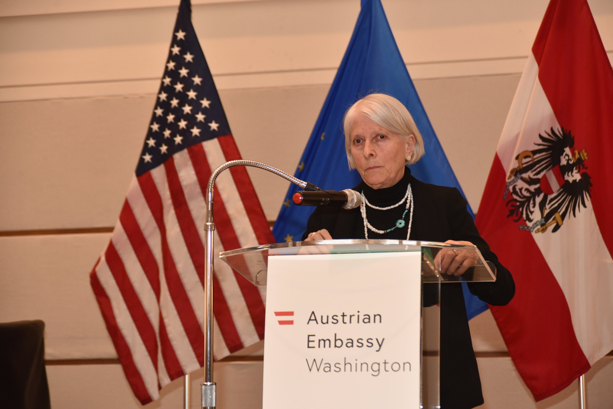 """By your very presence here this evening, and your support of the Ruth Maier exhibition in our nation's capital, you demonstrate unequivocally that you understand the tragedy of the Holocaust."" Dr. Altman speaking on the opening night.  Read her full speech here"