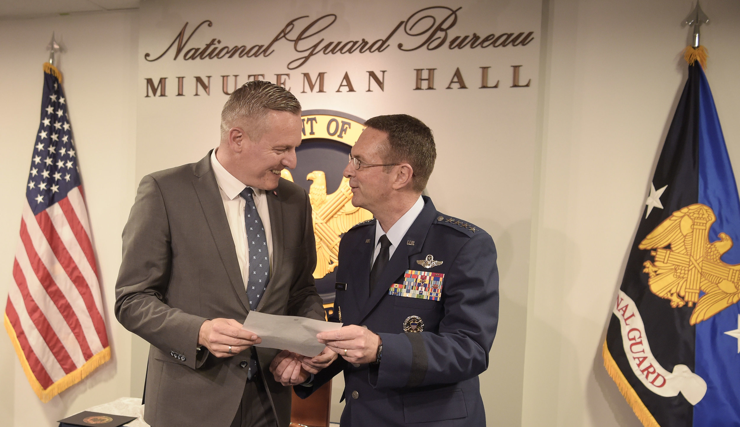 Defense Minister Mario Kunasek with General Joseph Lengyel, Chief of the National Guard Bureau