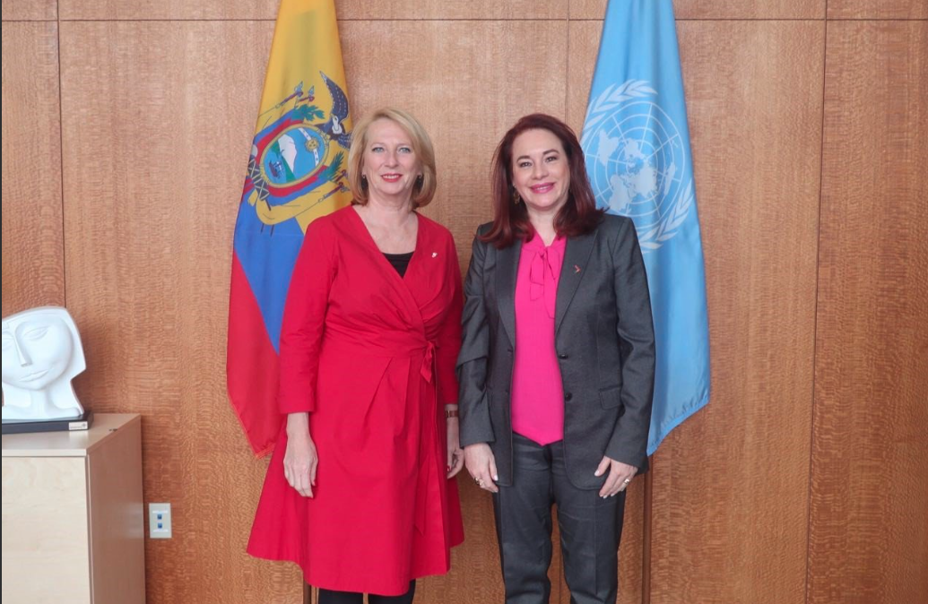 Second President Doris Bures with María Fernanda Espinosa Garcés, President of the 73rd session of the General Assembly at the United Nations (c) United Nations