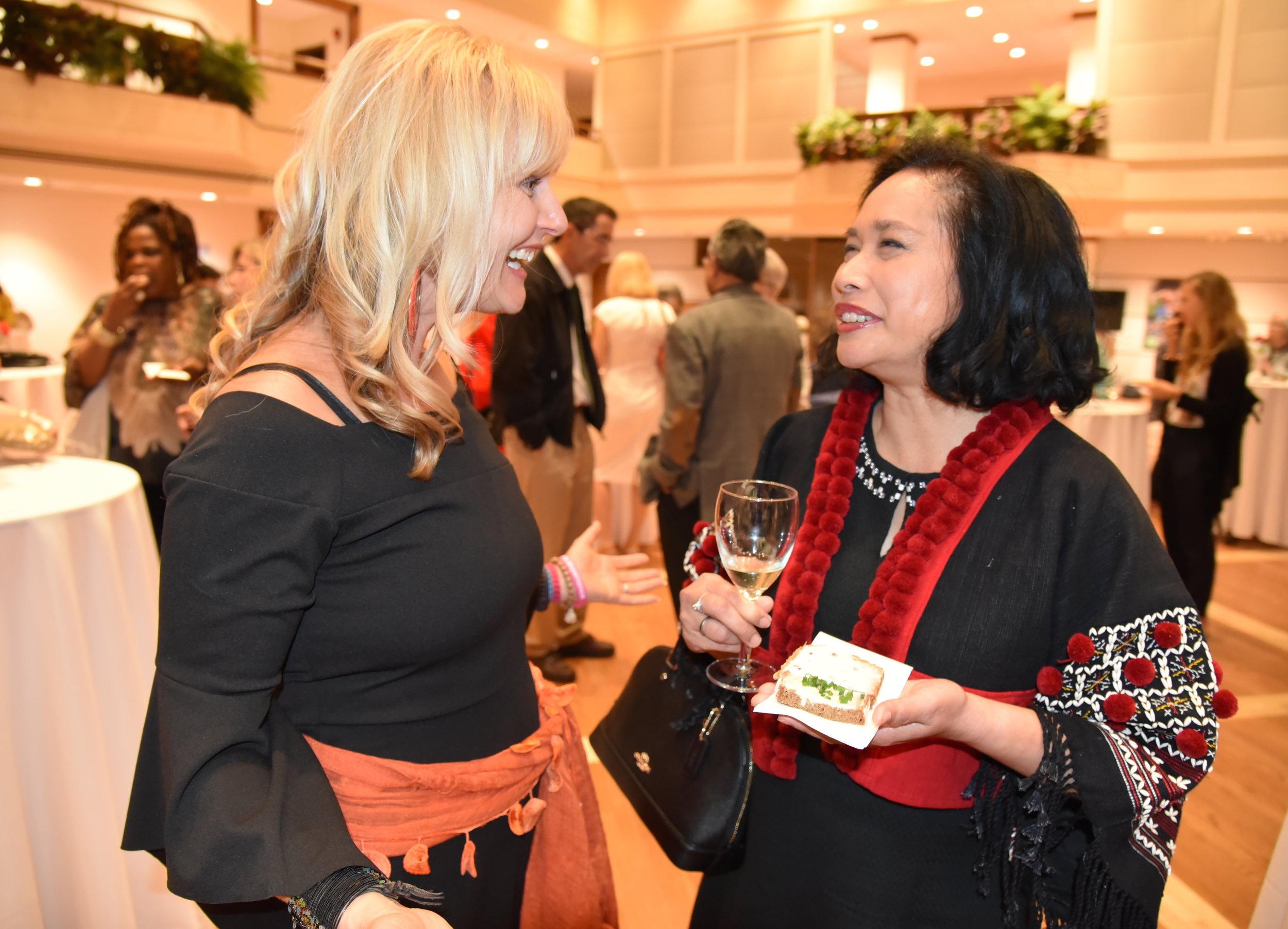 Author Bettina Gordon-Wayne with guest Kulwadee Tongpubesra Eisingerich