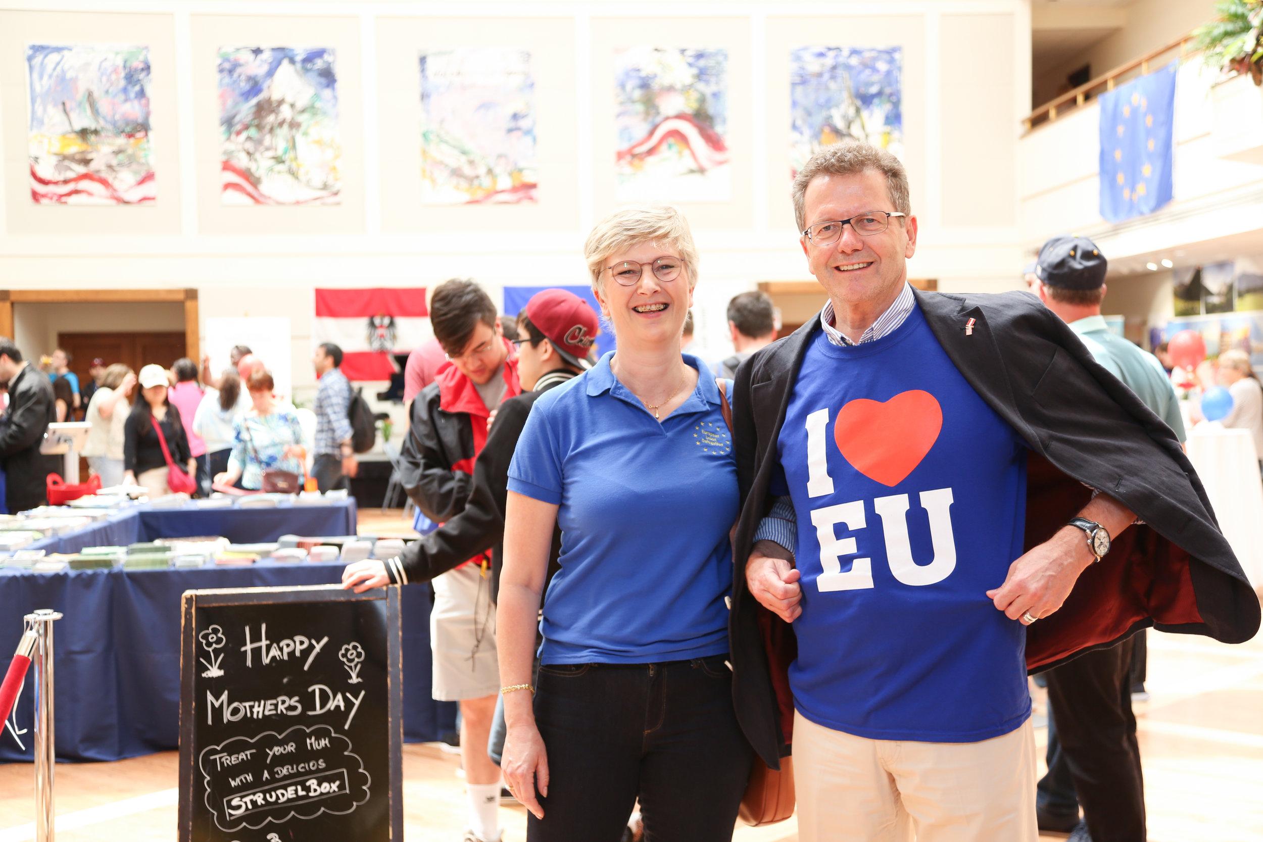 Austrian Ambassador Wolfgang Waldner with Caroline Vicini, Deputy Head of the EU Delegation in the USA